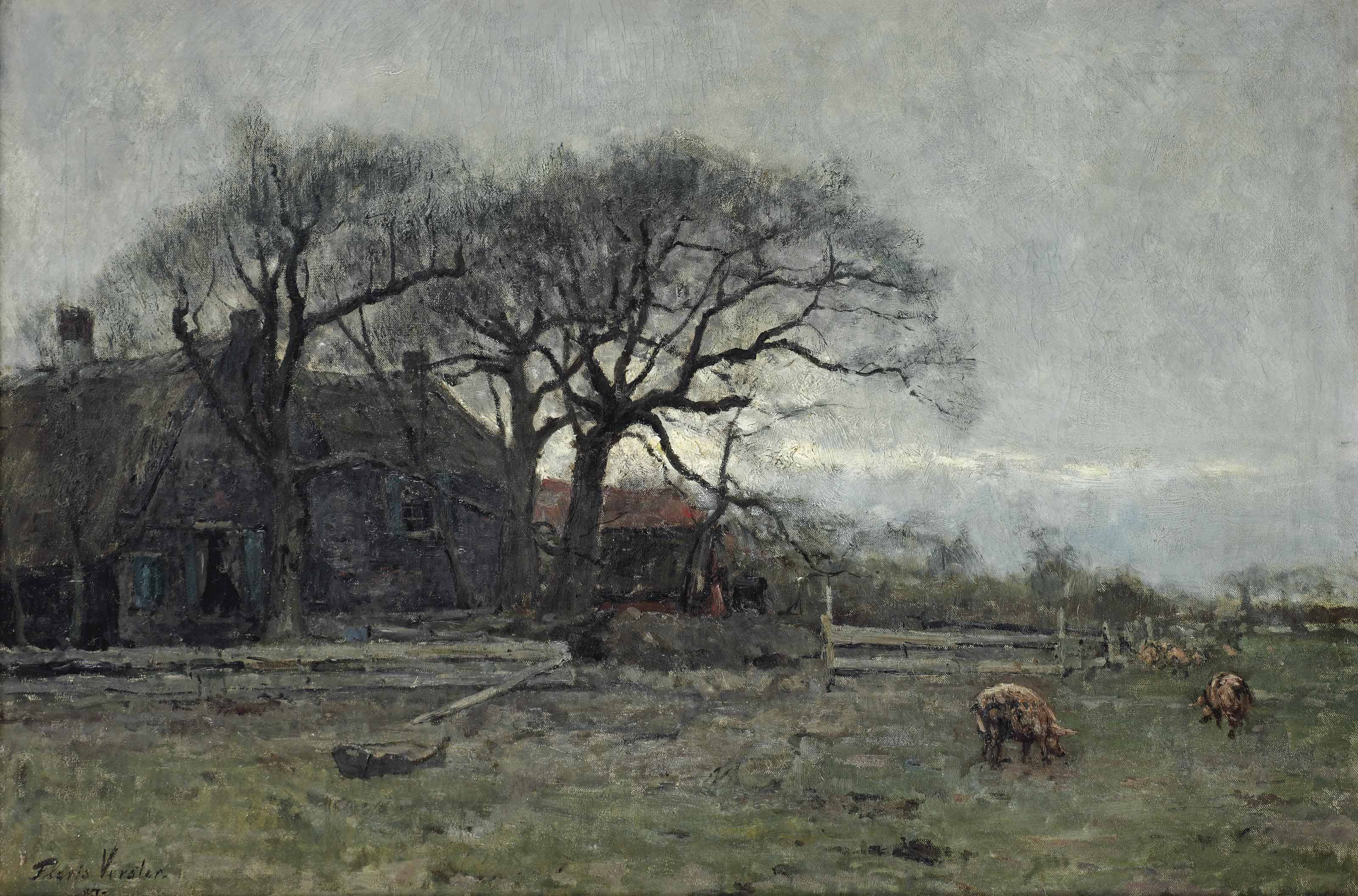 A farm with pigs
