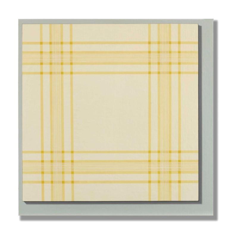 Daan van Golden (1936-2017), Schilderij 1964 Recht van Voren Gezien (Painting 1964 Seen Directly from the Front), executed in 1965. 70 x 70 cm. Sold for €266,500 on 1 November 2016  at Christie's in Amsterdam