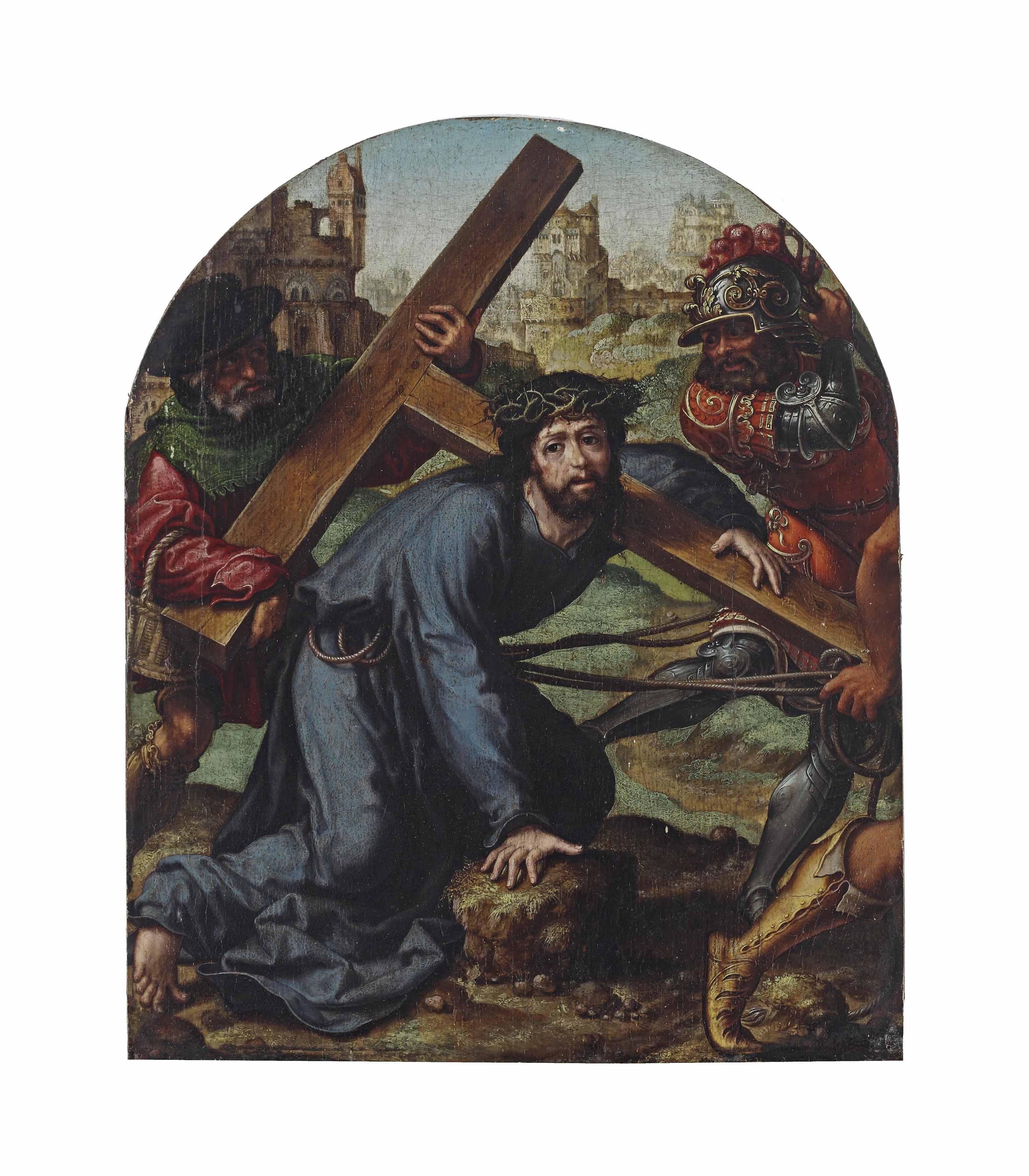 Christ falling under the Cross