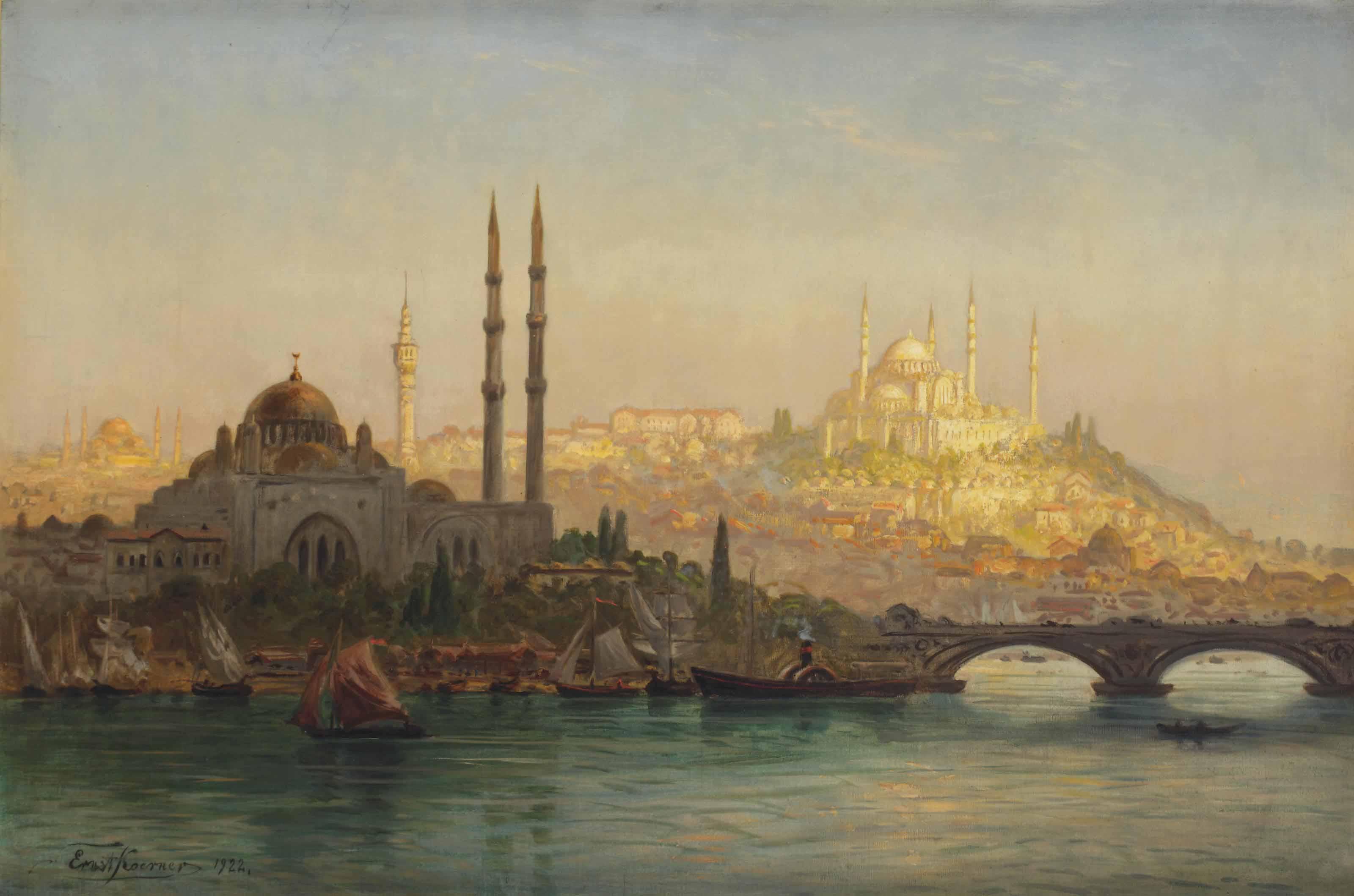 Istanbul, Valide und Solimanie Moschee; Istanbul, Valide and the Suleymaniye mosque