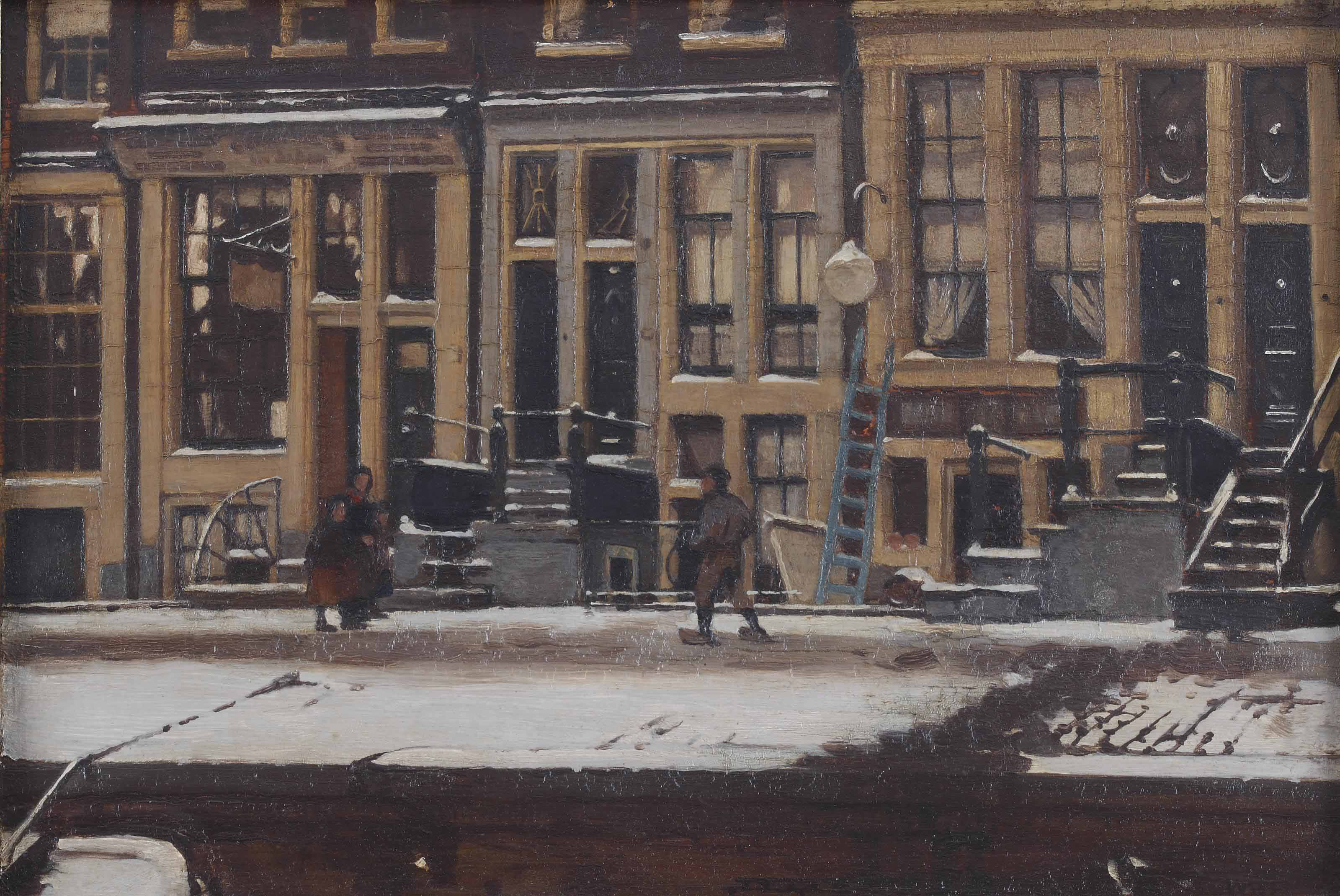 The Oude Waal in winter, Amsterdam