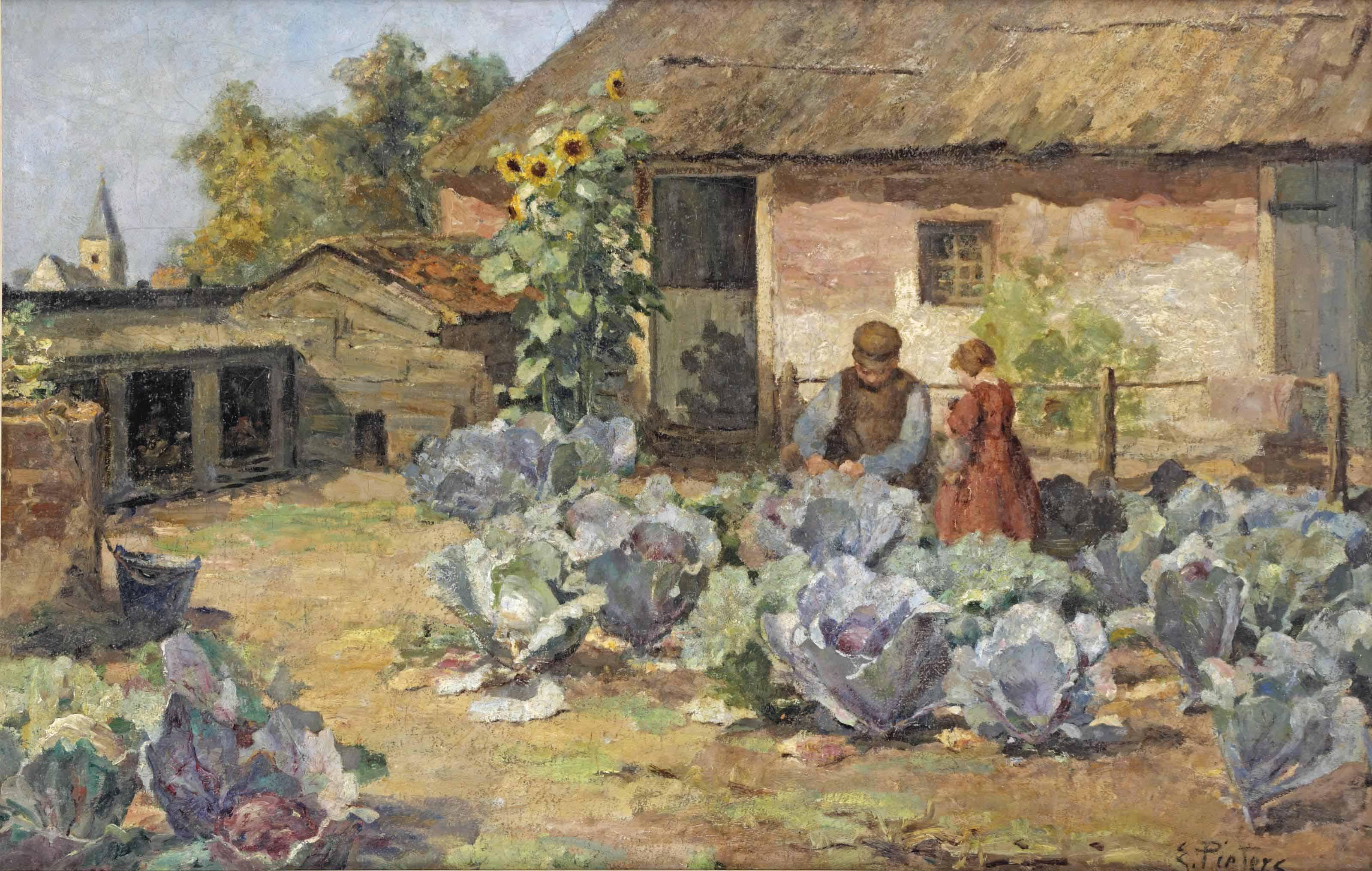 In the vegetable garden, Blaricum