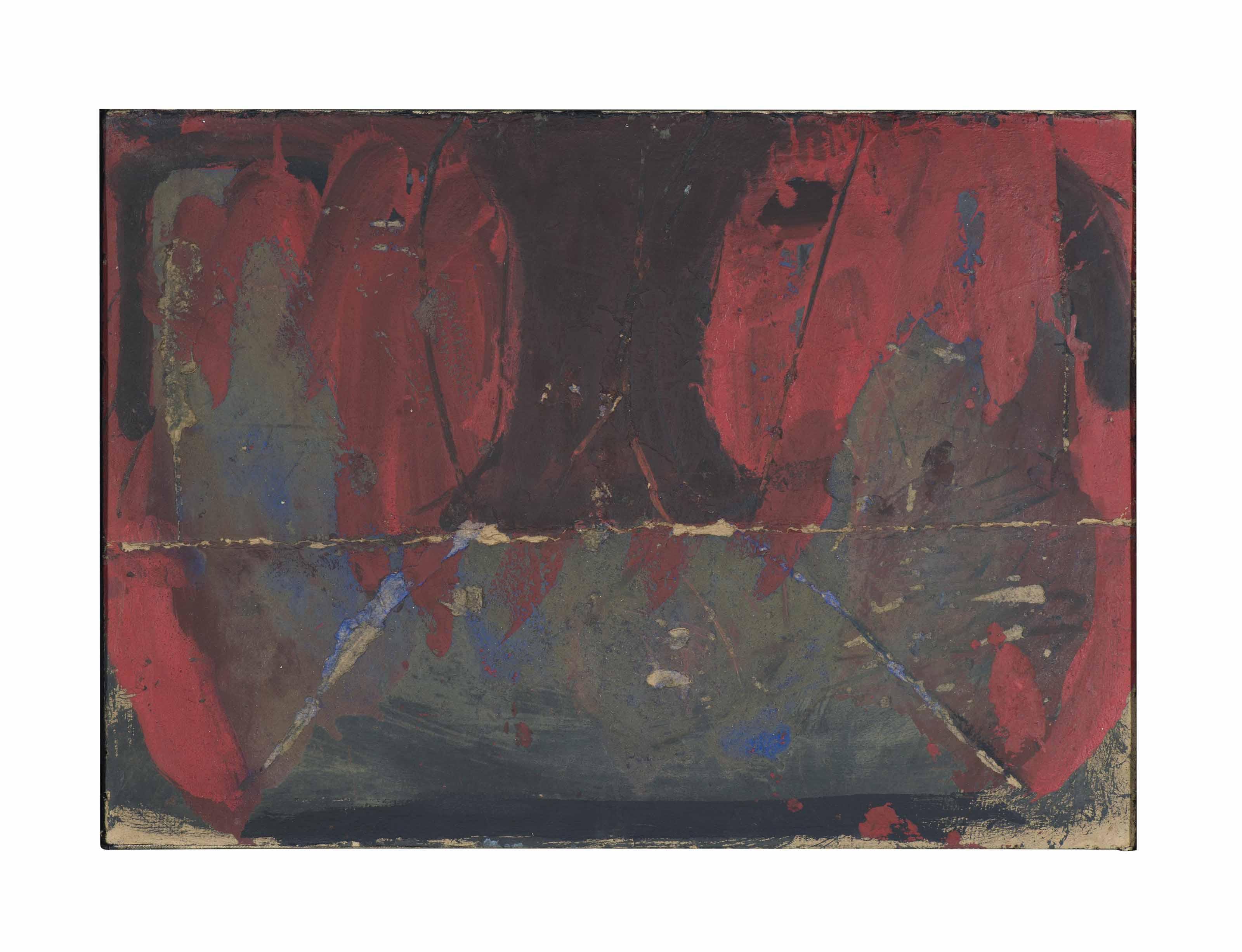 Pintura damunt cartó fregat (Painting on Scrubbed Cardboard)