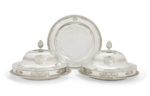 A PAIR OF FRENCH LARGE SILVER