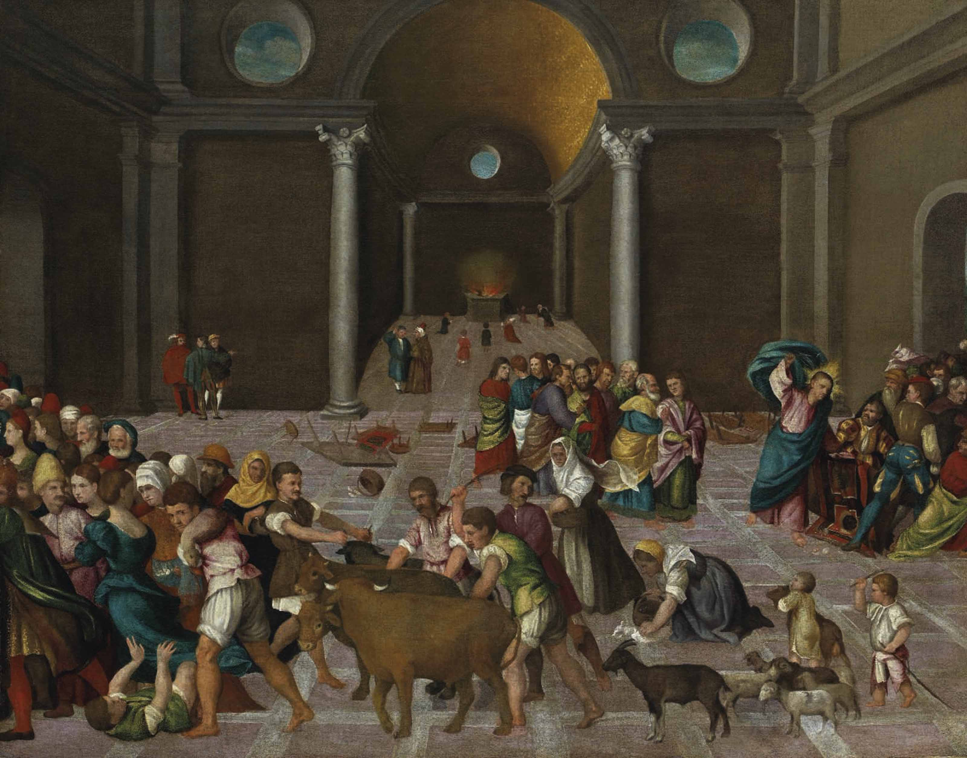 Christ driving the Tradesmen from the Temple