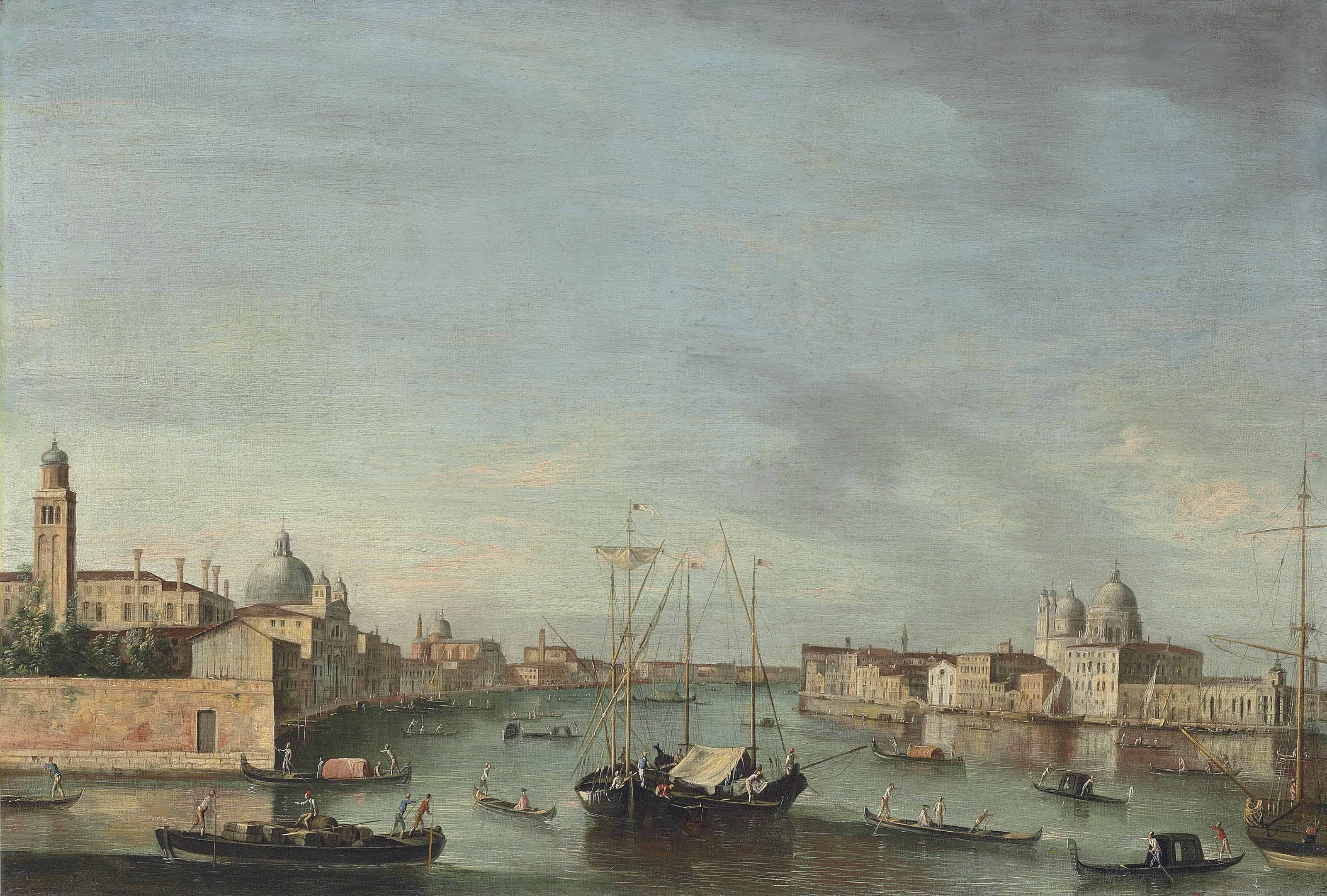 The Giudecca, Venice, with the Zattere and the Redentore