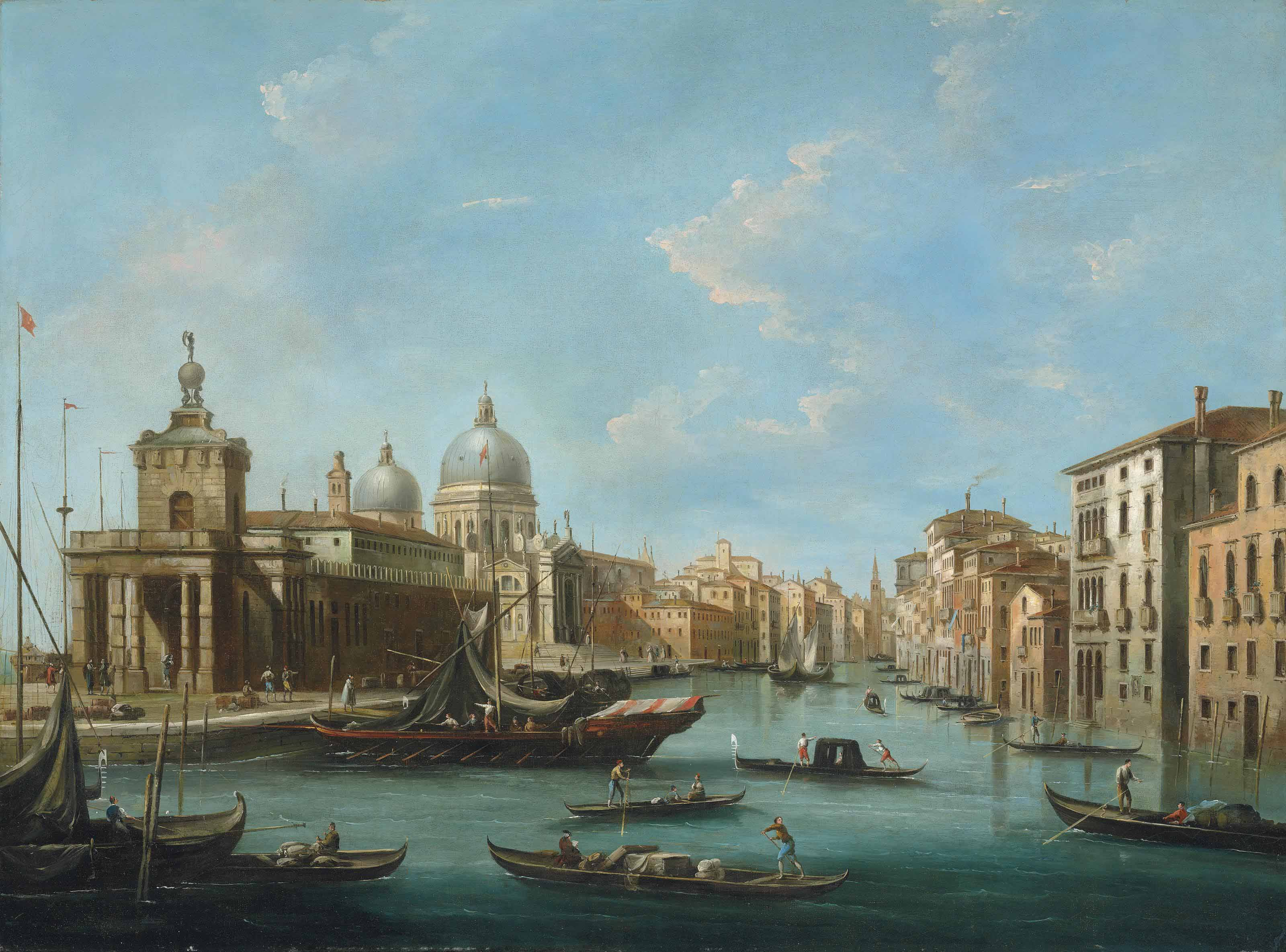The Grand Canal, Venice, with the Punta della Dogana and Santa Maria della Salute