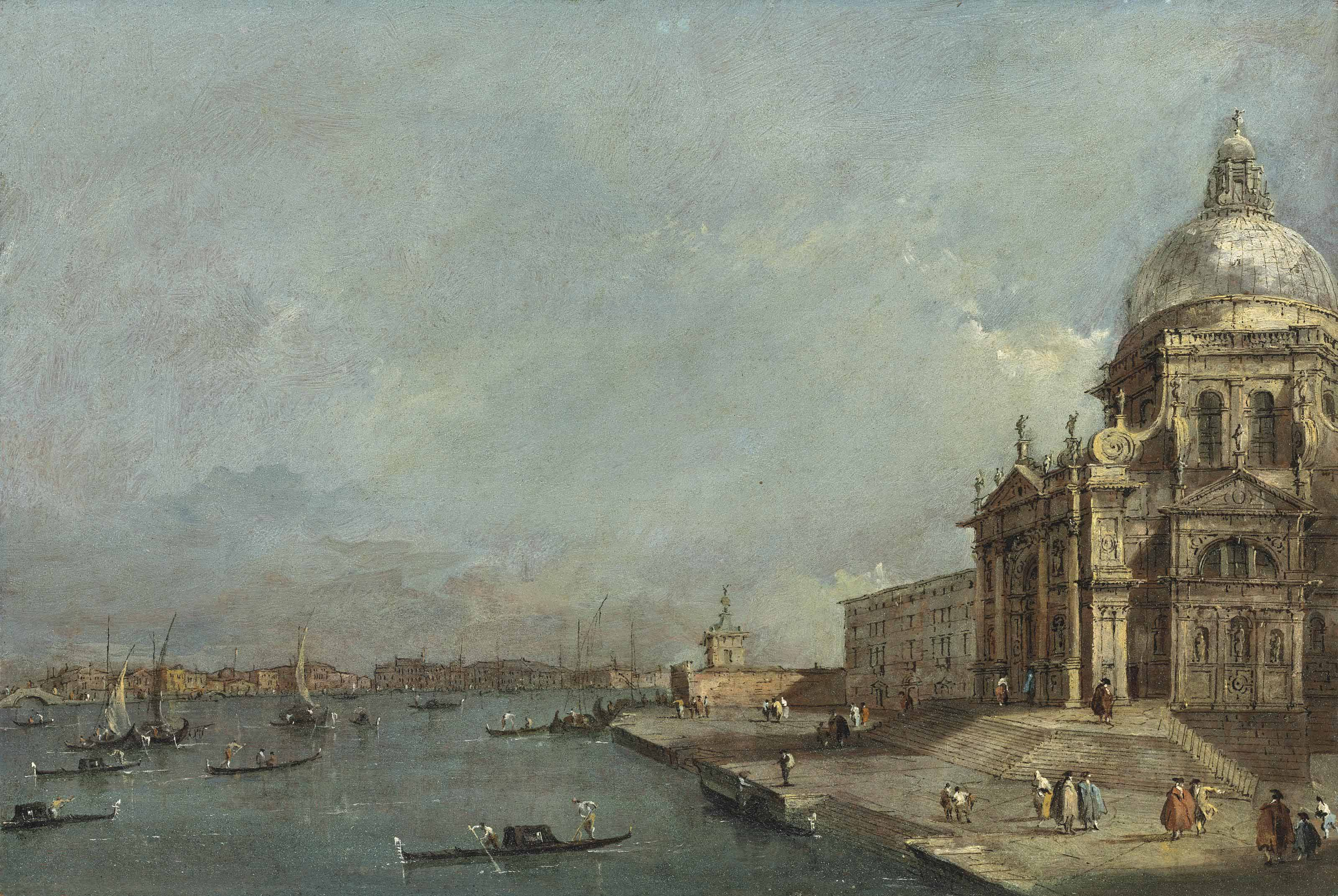 Santa Maria della Salute and the entrance to the Grand Canal, Venice, looking East