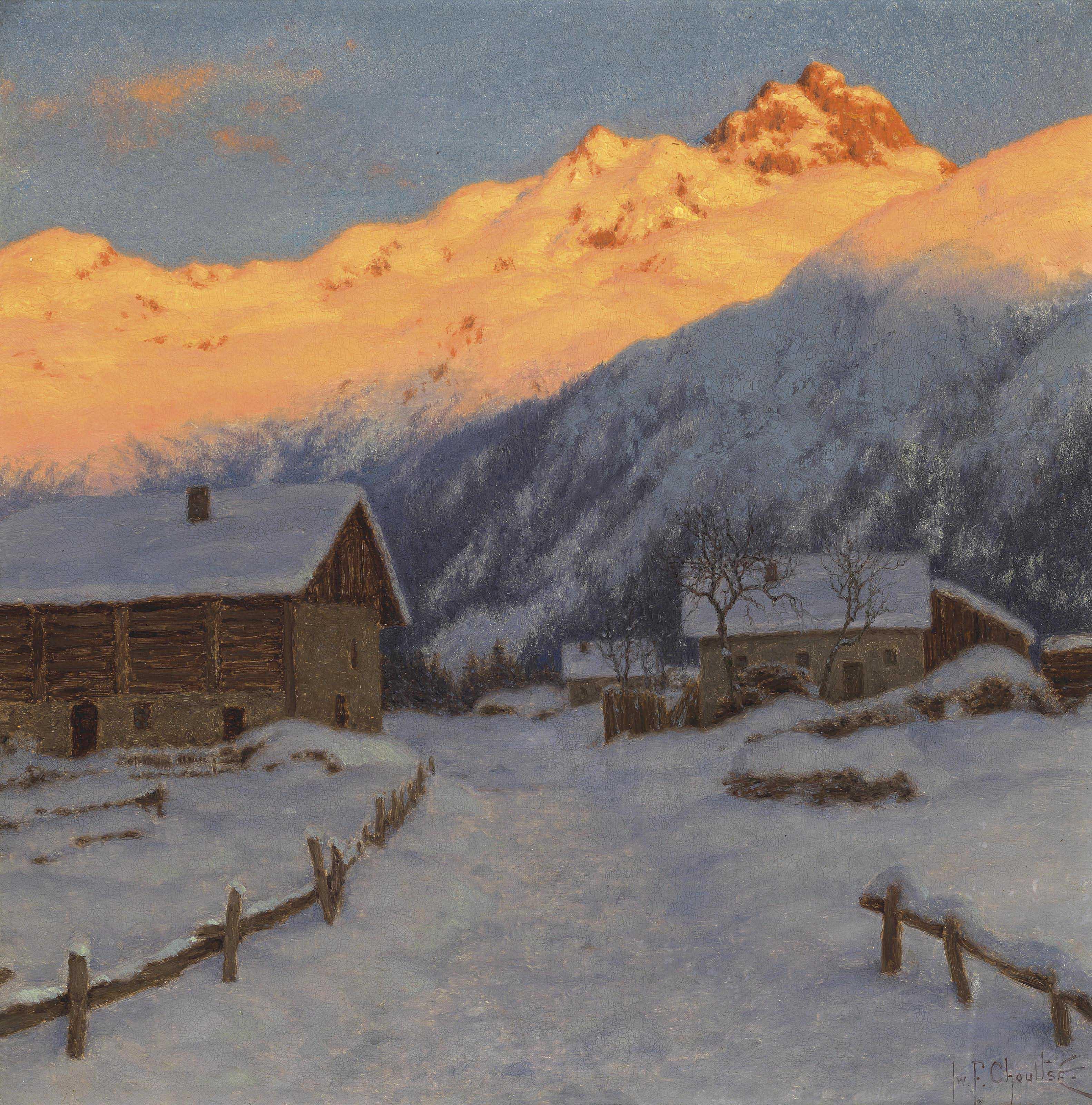 Evening on the mountain, Haute-Savoie