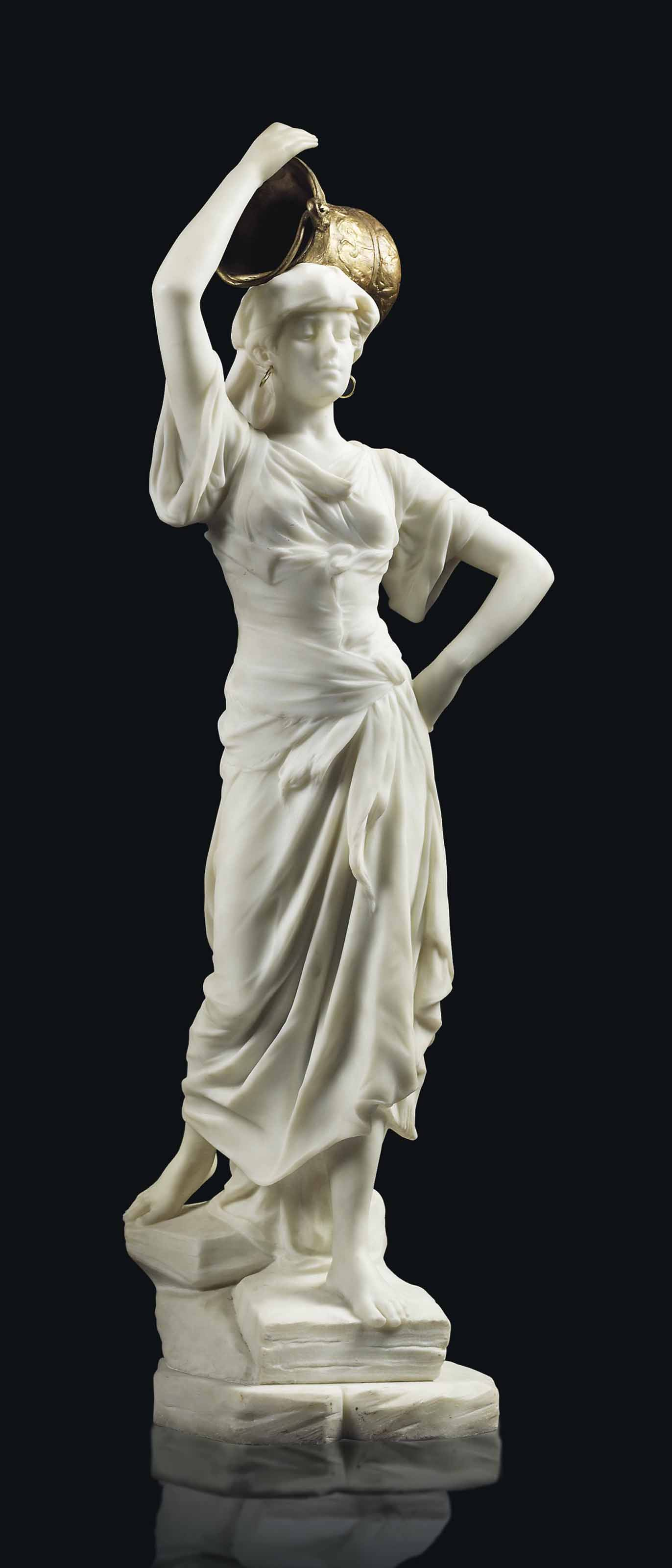 Femme portant une vasque (Woman supporting a basin)