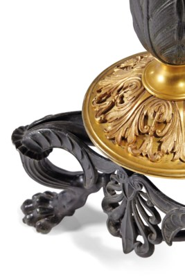 A RUSSIAN GILT AND PATINATED-B