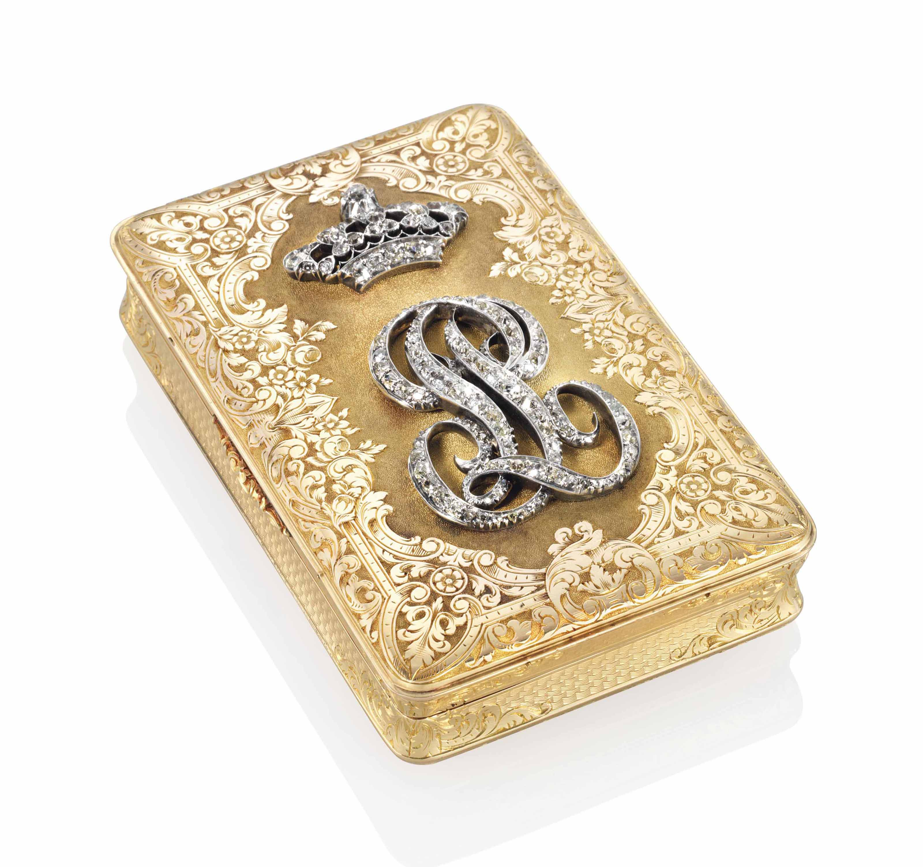 A LOUIS-PHILIPPE JEWELLED GOLD ROYAL PRESENTATION SNUFF-BOX