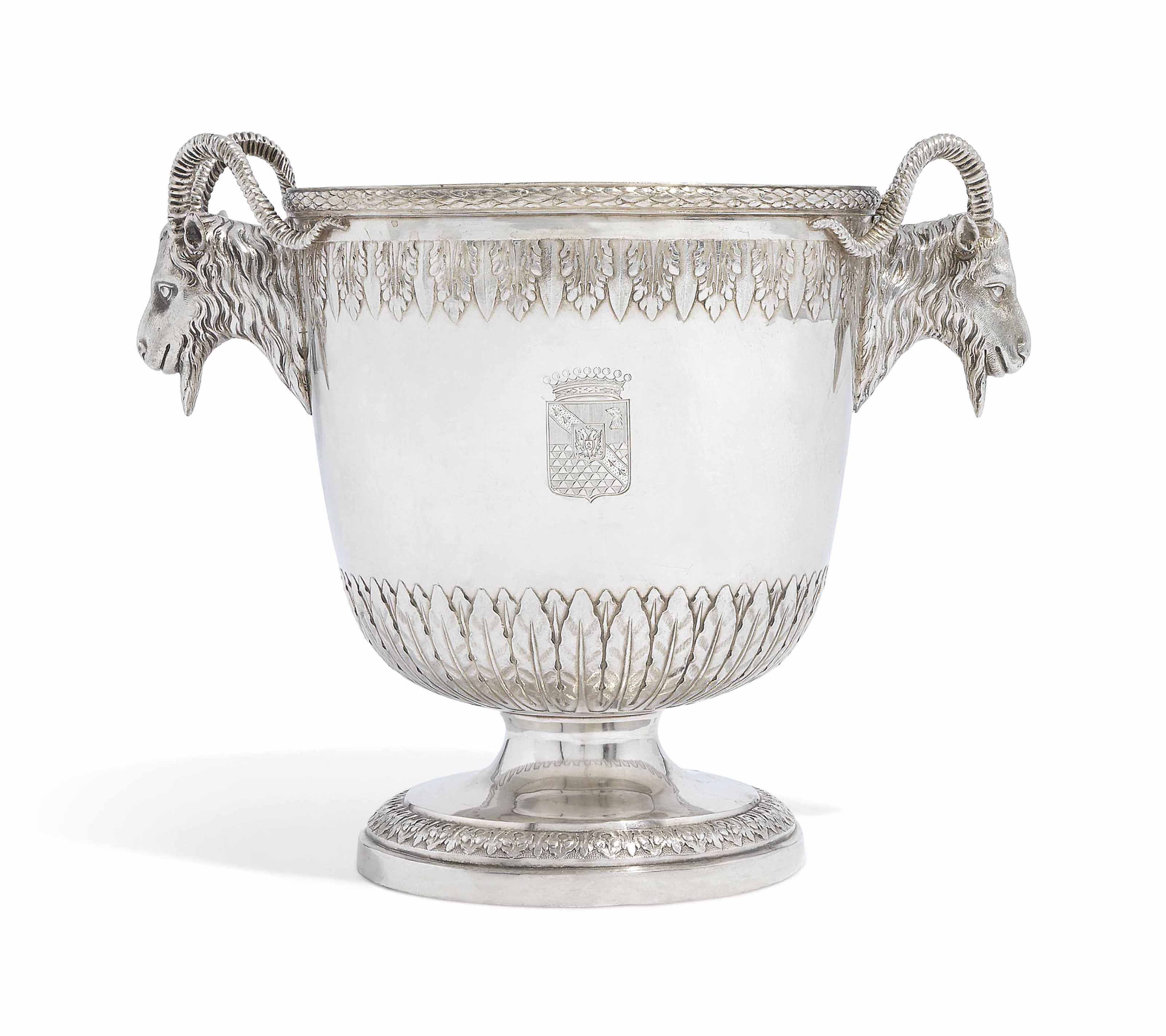 A GERMAN SILVER WINE-COOLER
