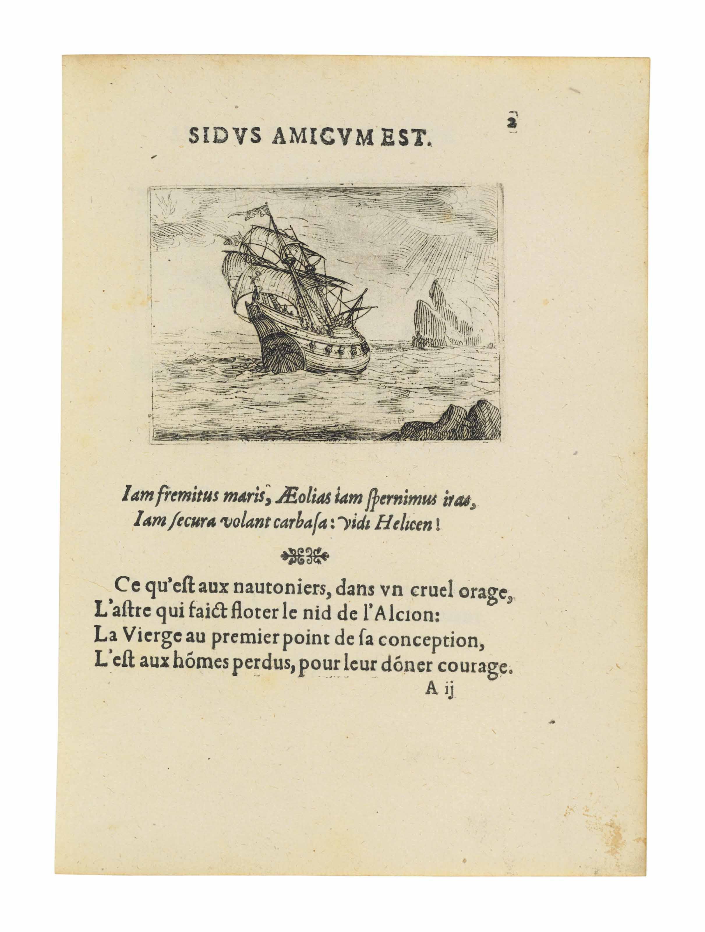CALLOT, Jacques (1592-1635). Vie de la mere de Dieu representée par emblesmes. [No place, publisher or date].