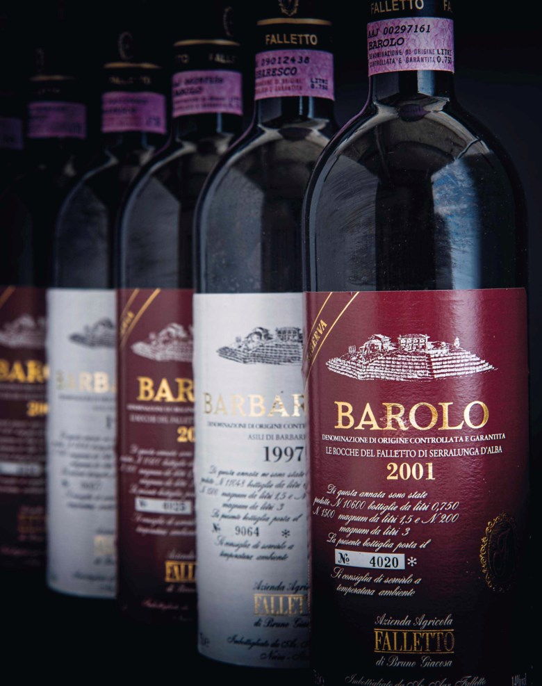 Bruno Giacosa, Barolo Le Rocche del Falletto Riserva 2001, 12 bottles per lot. Sold for £3,760 on 10 November 2016  at Christie's in London
