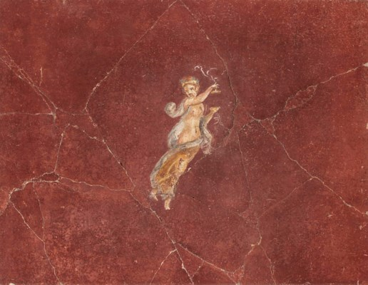 A ROMAN POLYCHROME WALL-PAINTI