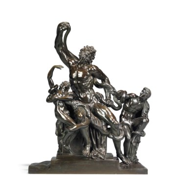 A FRENCH BRONZE GROUP OF THE L