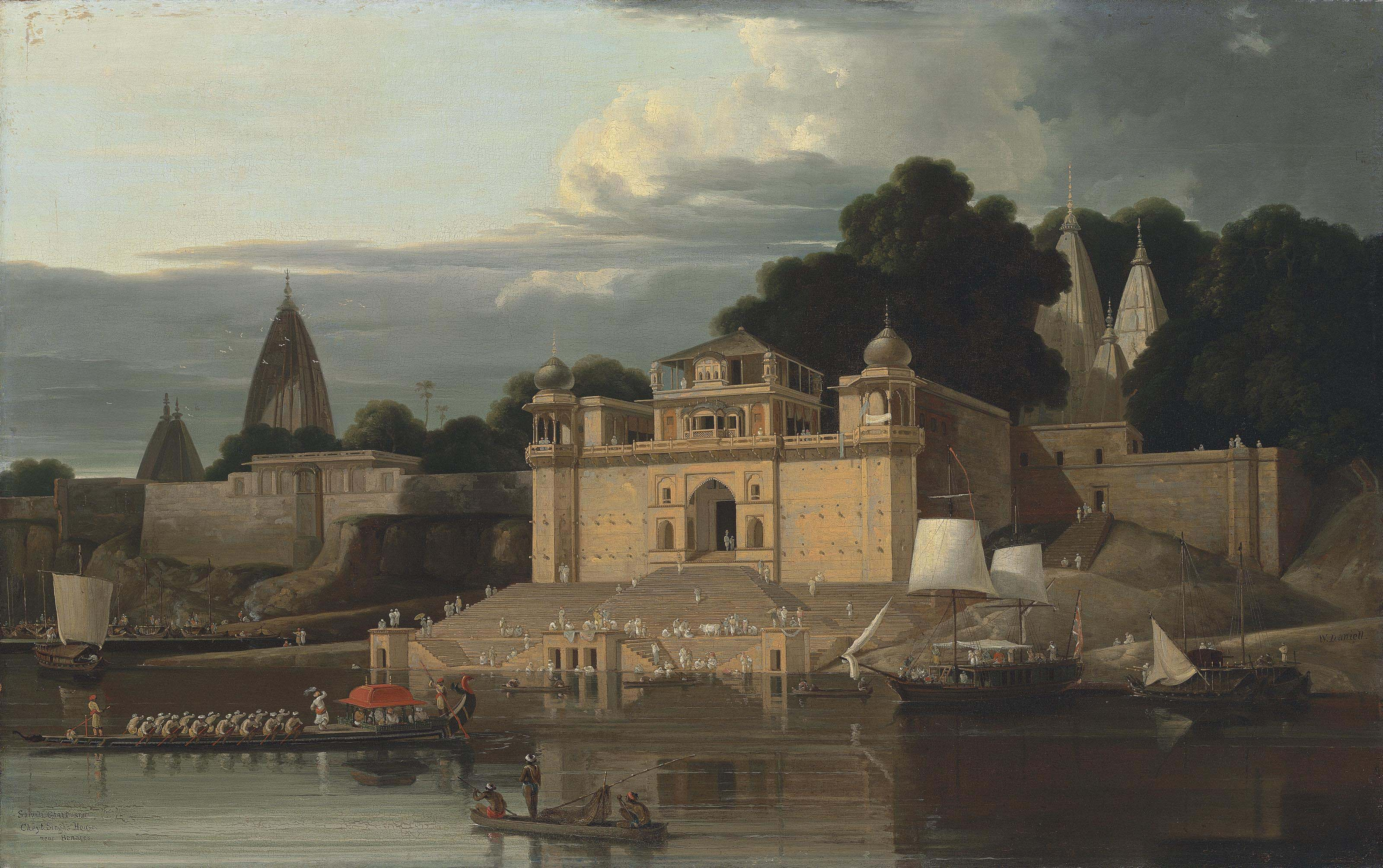 Shivala Ghaut and Cheyt Singh's House near Benares