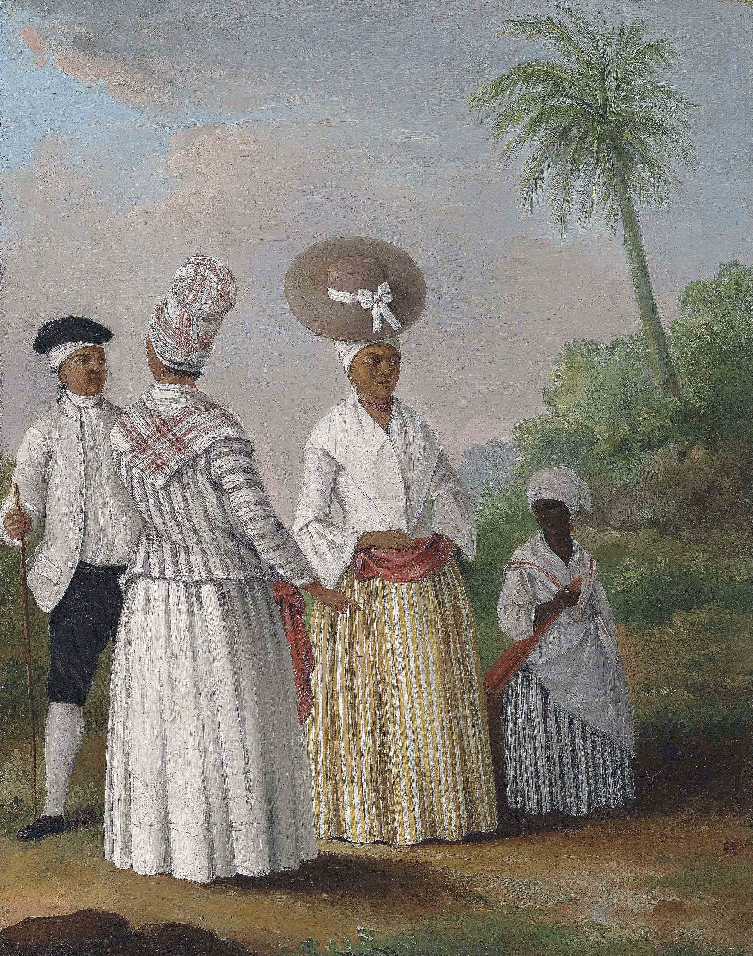 Free coloured women of Dominica with an attendant