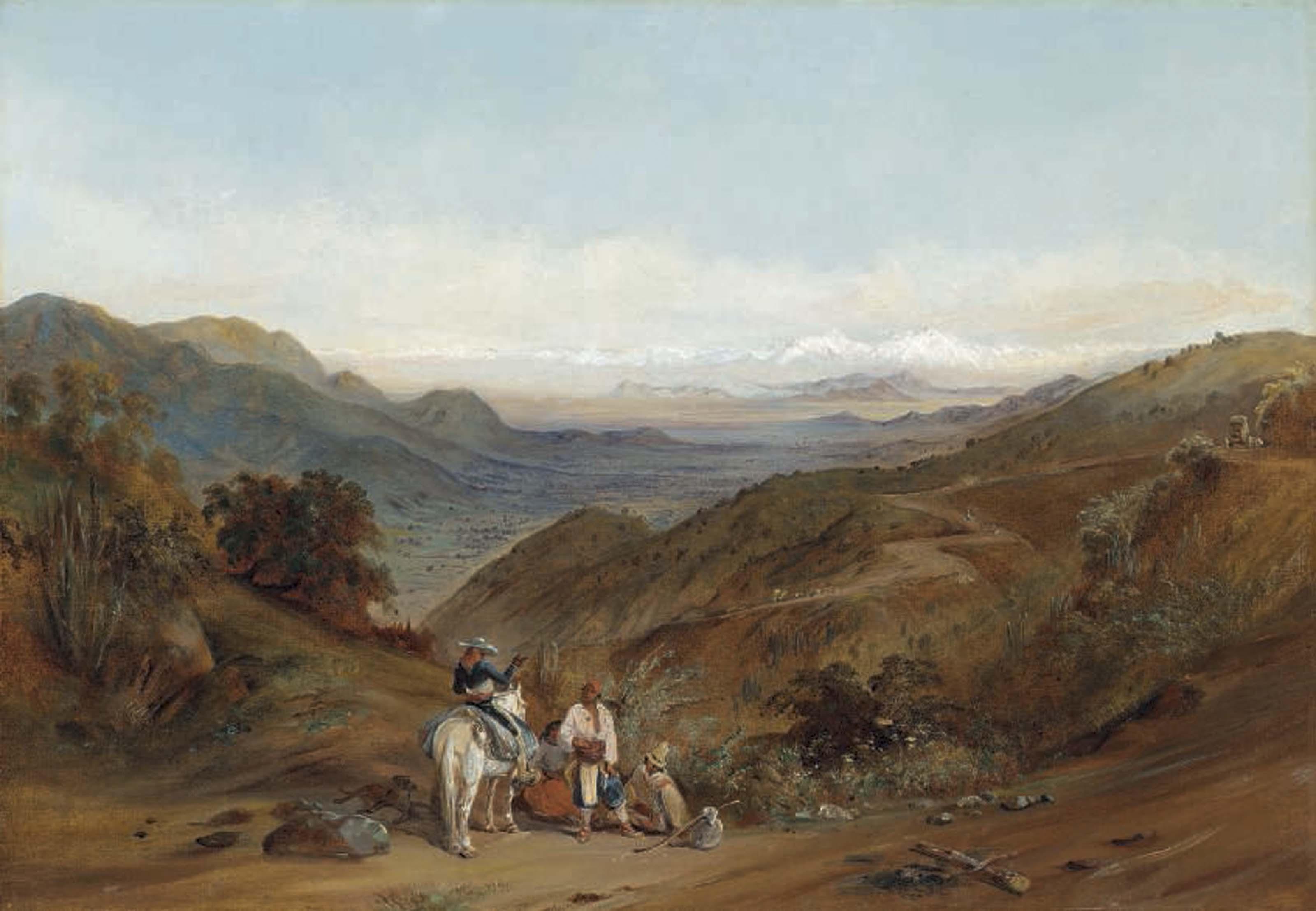 The road between Santiago and Valparaíso from the Prado hillside