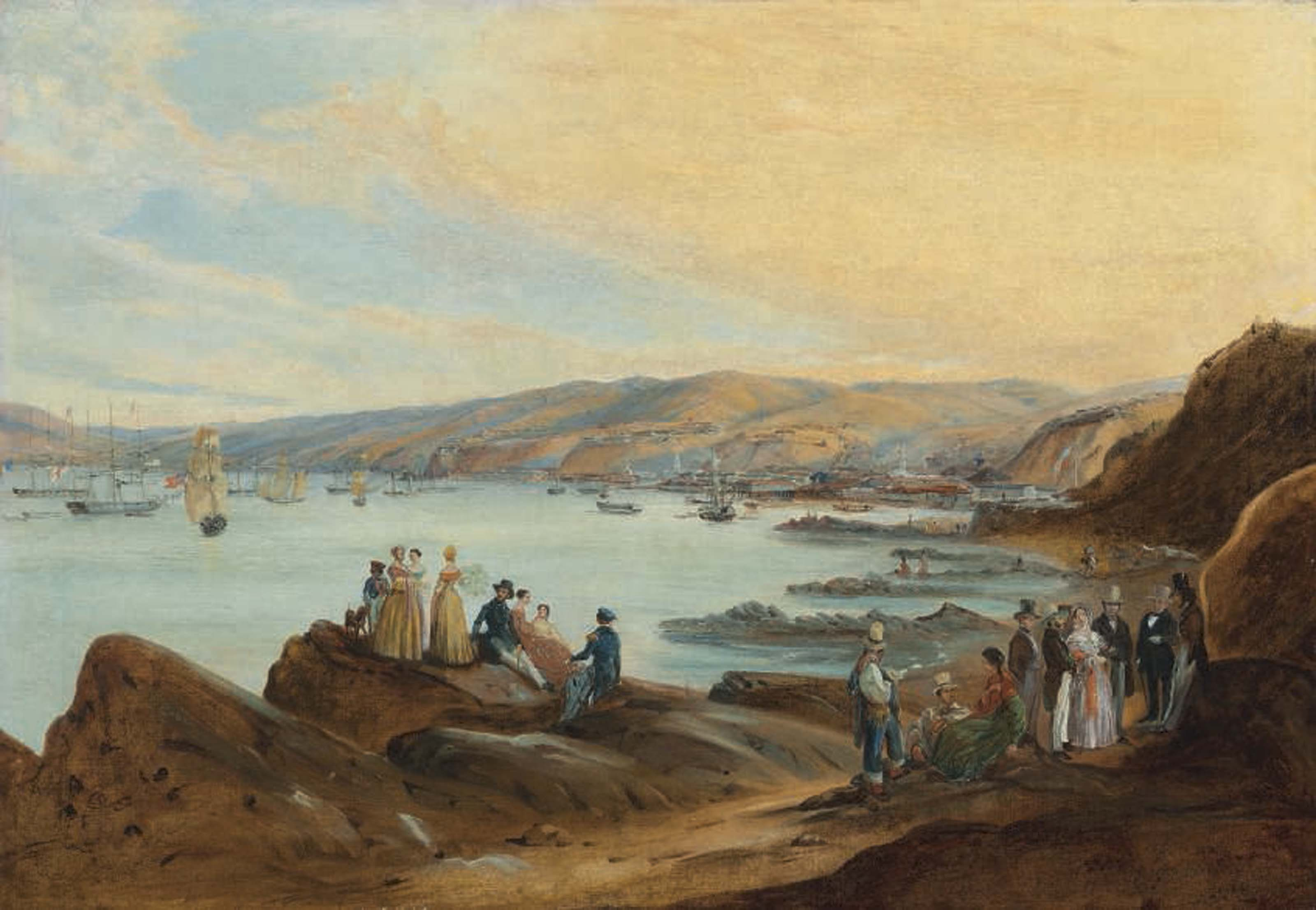 The beach of El Membrillo, Valparaíso