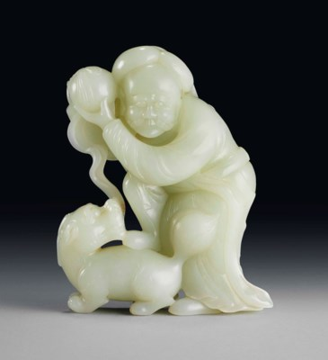 A WHITE JADE GROUP OF A FOREIG