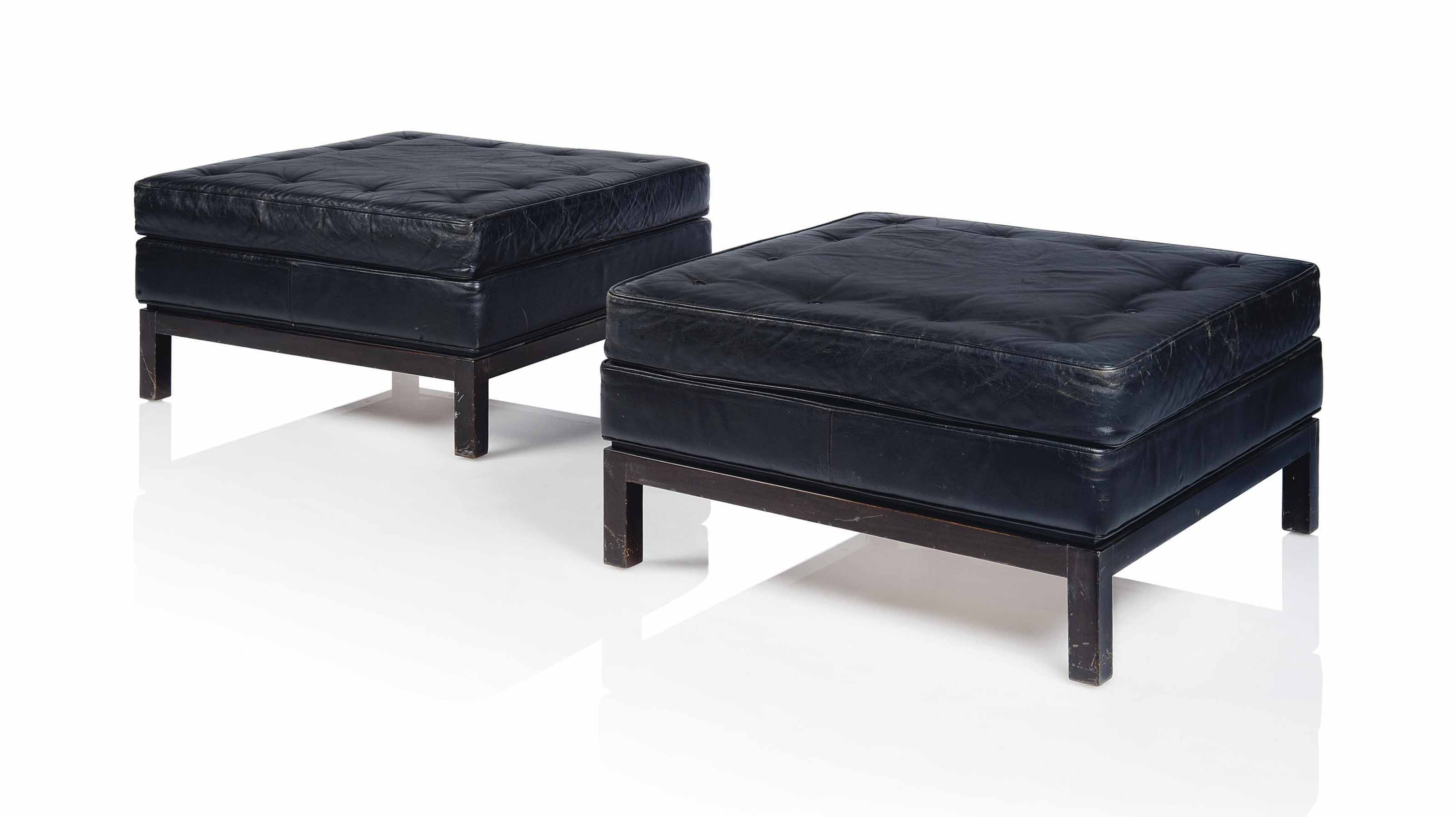 A PAIR OF LARGE STOOLS