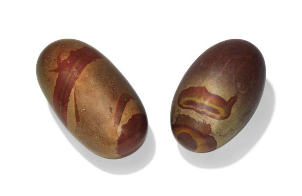 TWO STONE COSMIC EGGS