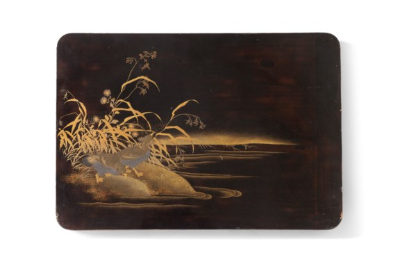 TWO JAPANESE LACQUERED PANELS