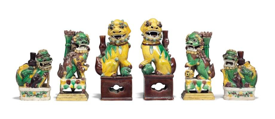 THREE PAIRS OF CHINESE MODELS