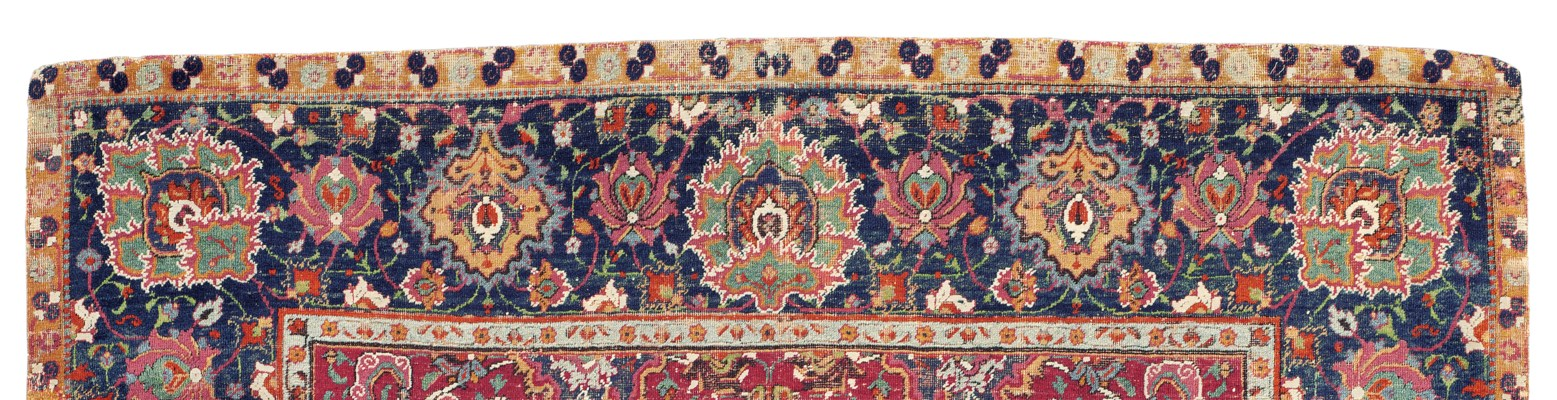 A PART-COTTON ISFAHAN RUG
