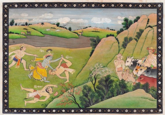 KRISHNA SLAYS THE DEMON VYOMAS