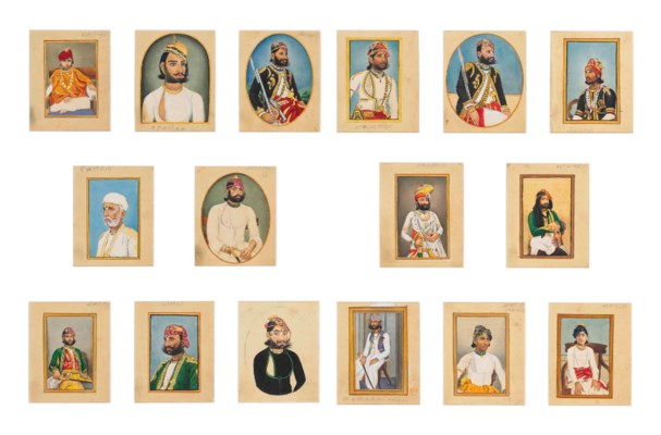 SIXTEEN PORTRAITS OF RAJPUT RU