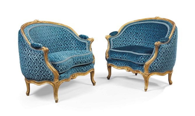 A PAIR OF LOUIS XV GILTWOOD PE