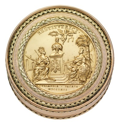 A GERMAN VARI-COLOUR GOLD PRES