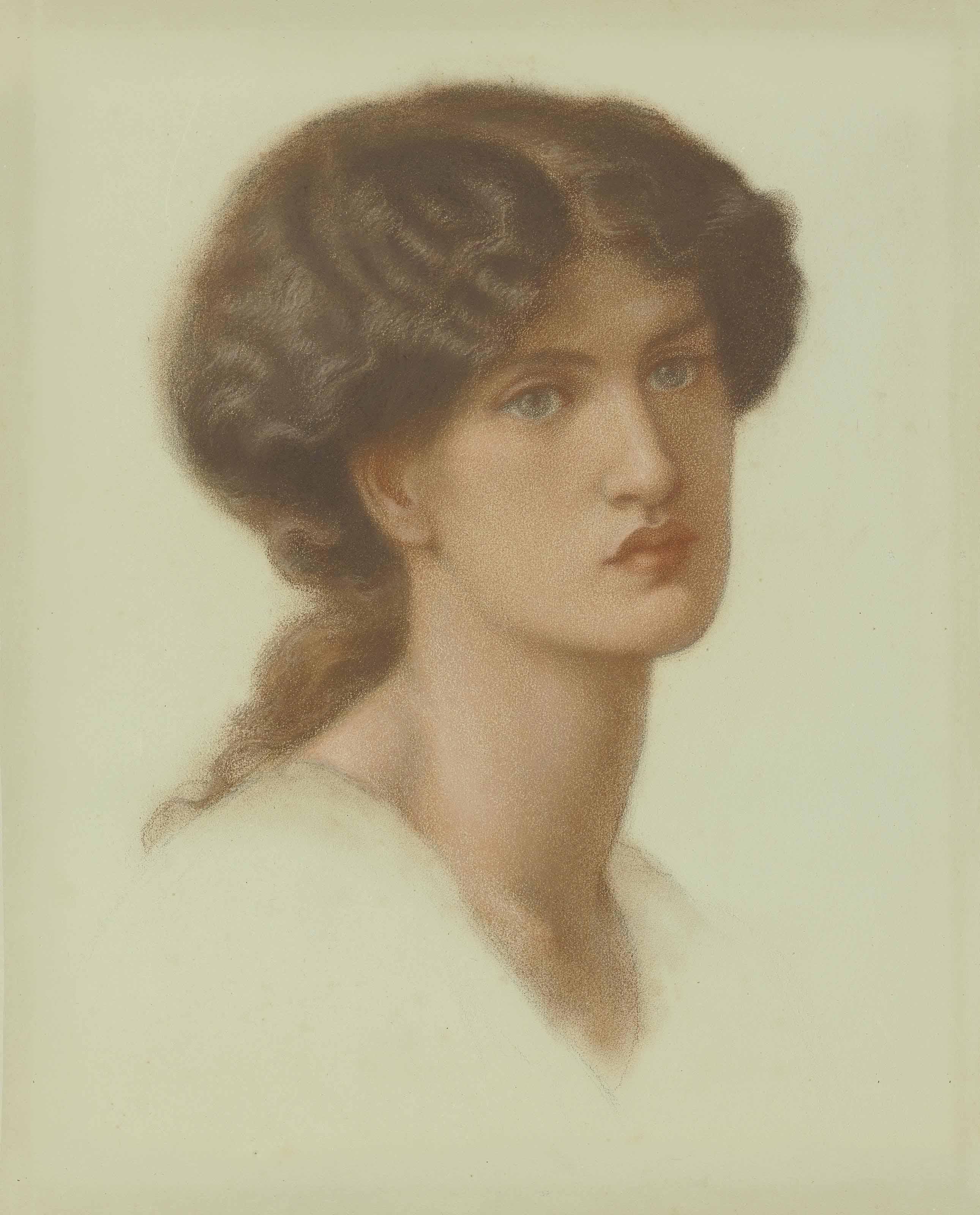 Portrait of Jane Morris, bust-length