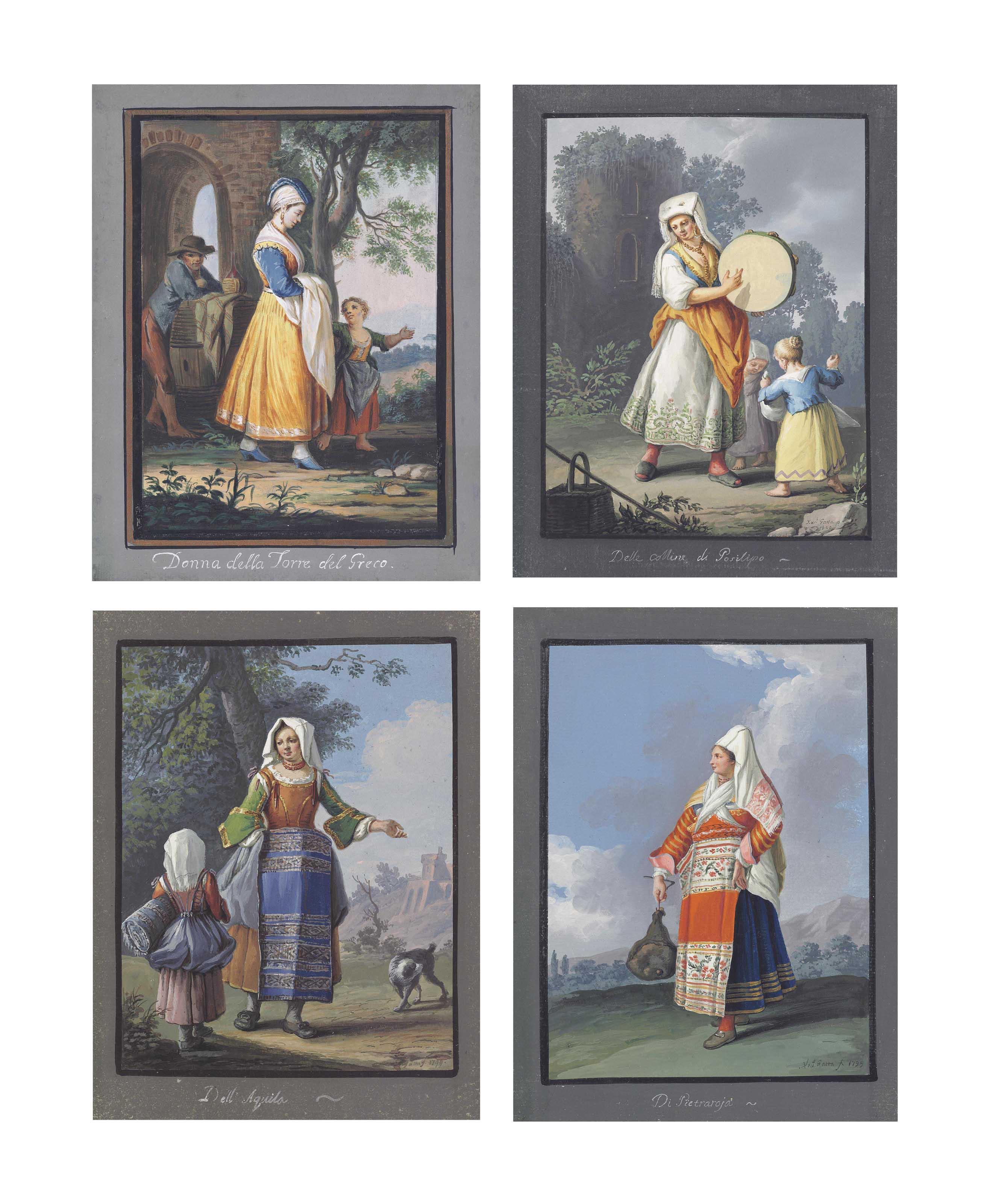 Four costume studies