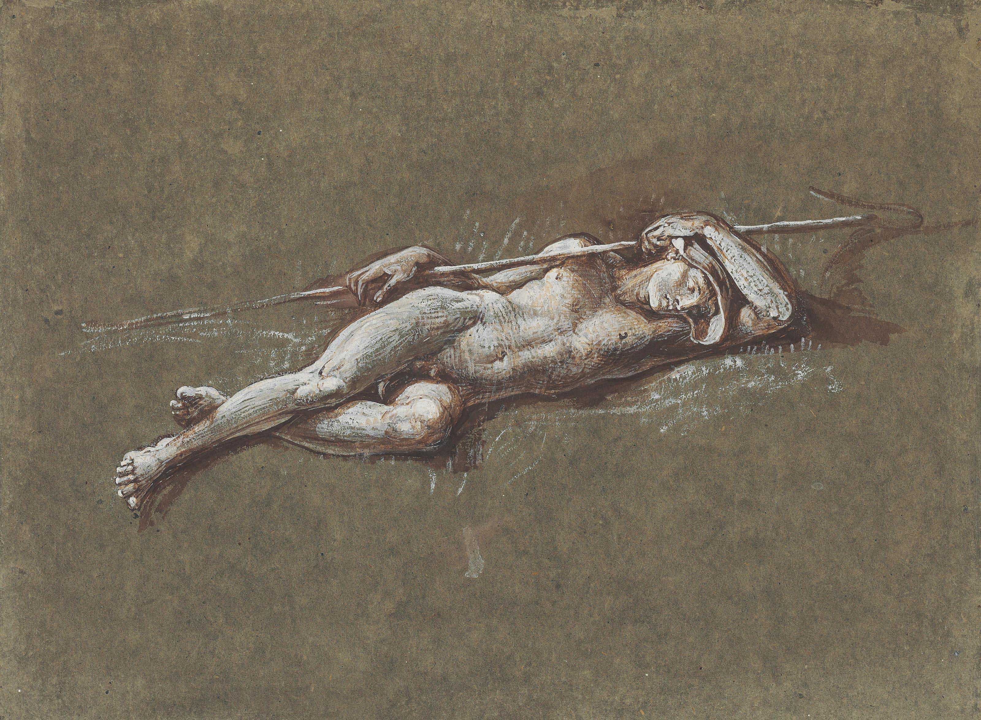 Study of Endymion, for 'Diana and Endymion'