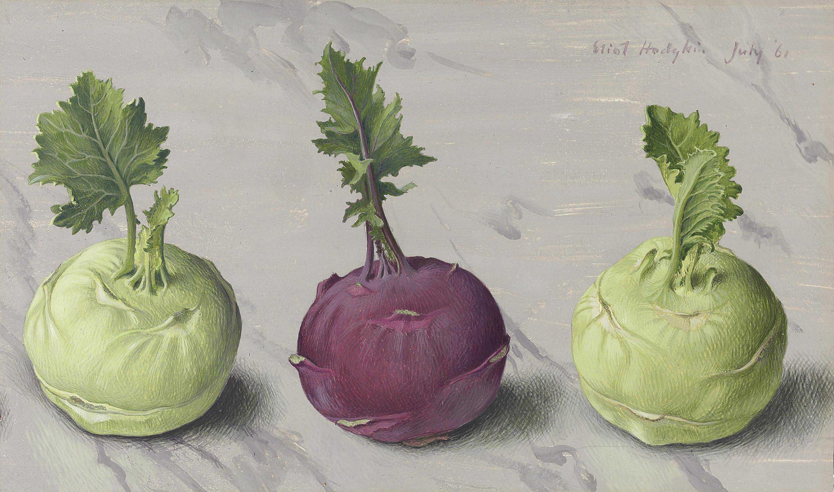 Three kohlrabi