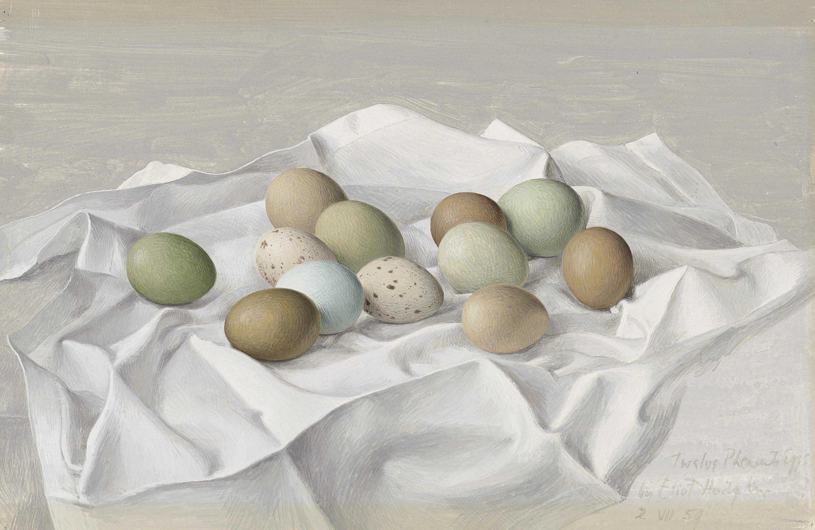 Twelve Pheasant Eggs