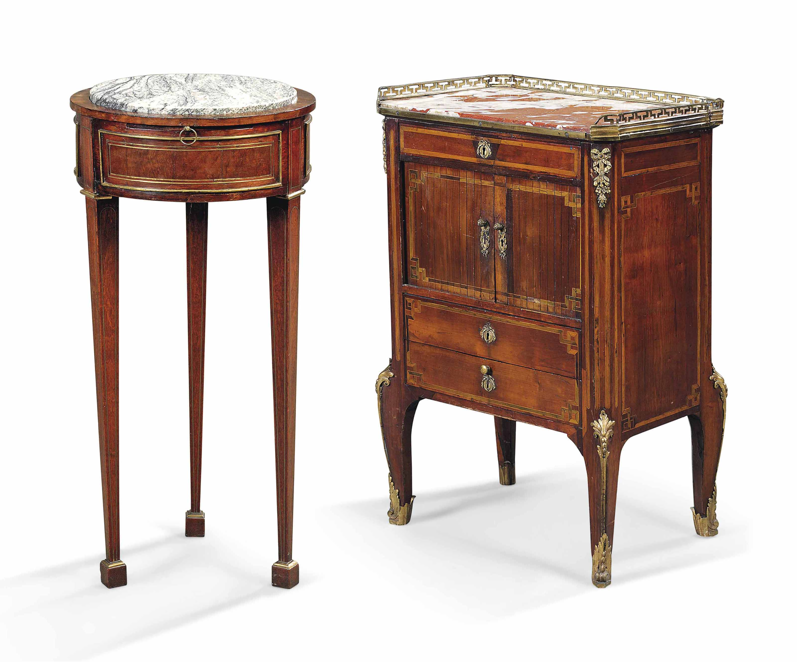 A LOUIS XV ORMOLU-MOUNTED FRUITWOOD AND CROSSBANDED COMMODE