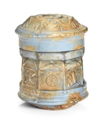 A ROMAN OPAQUE LIGHT BLUE GLAS
