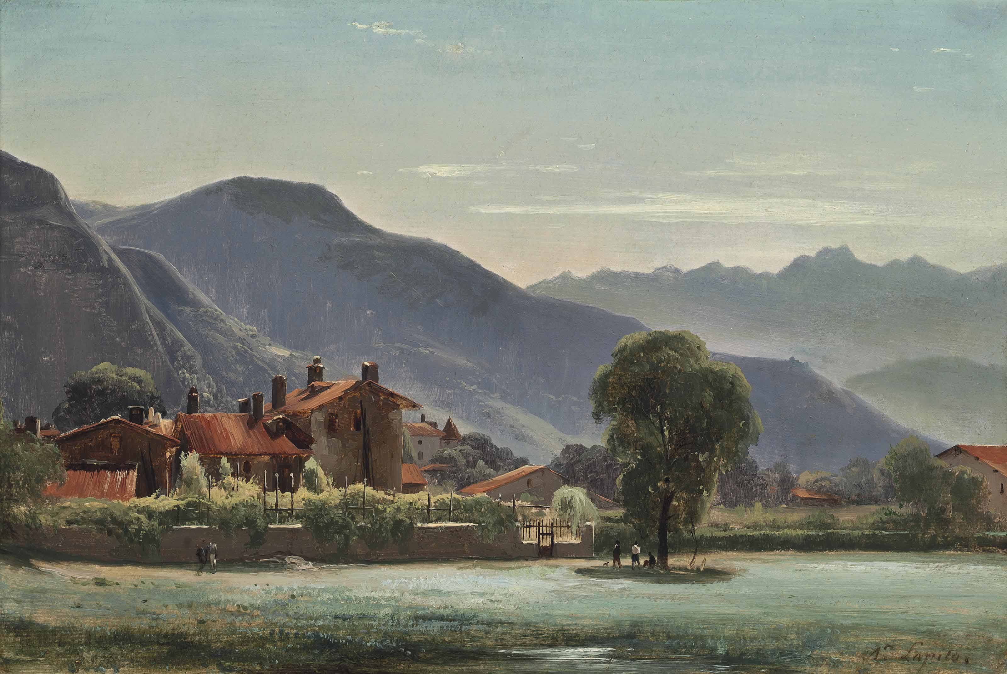 A village in the mountains
