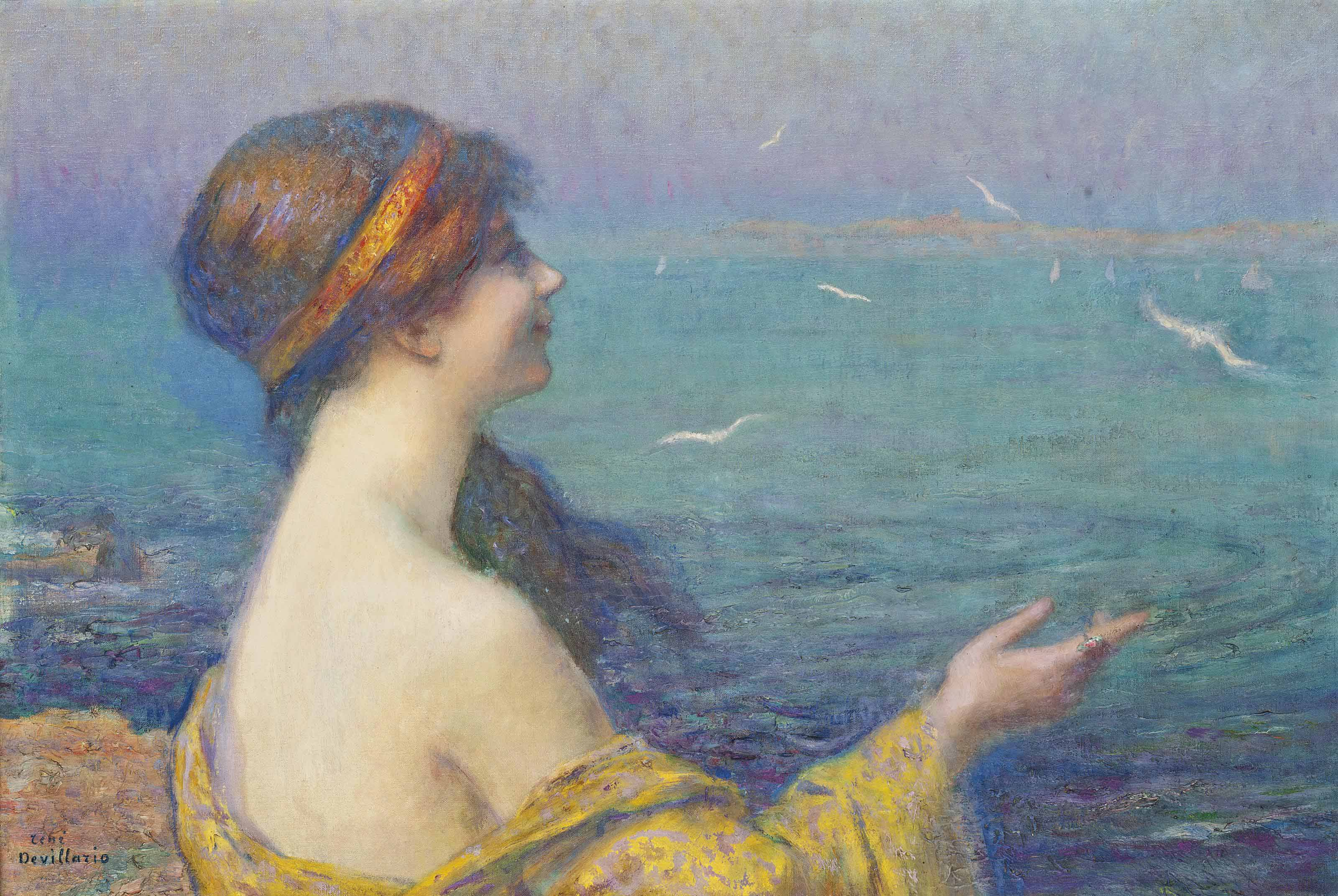 A maiden on the shore