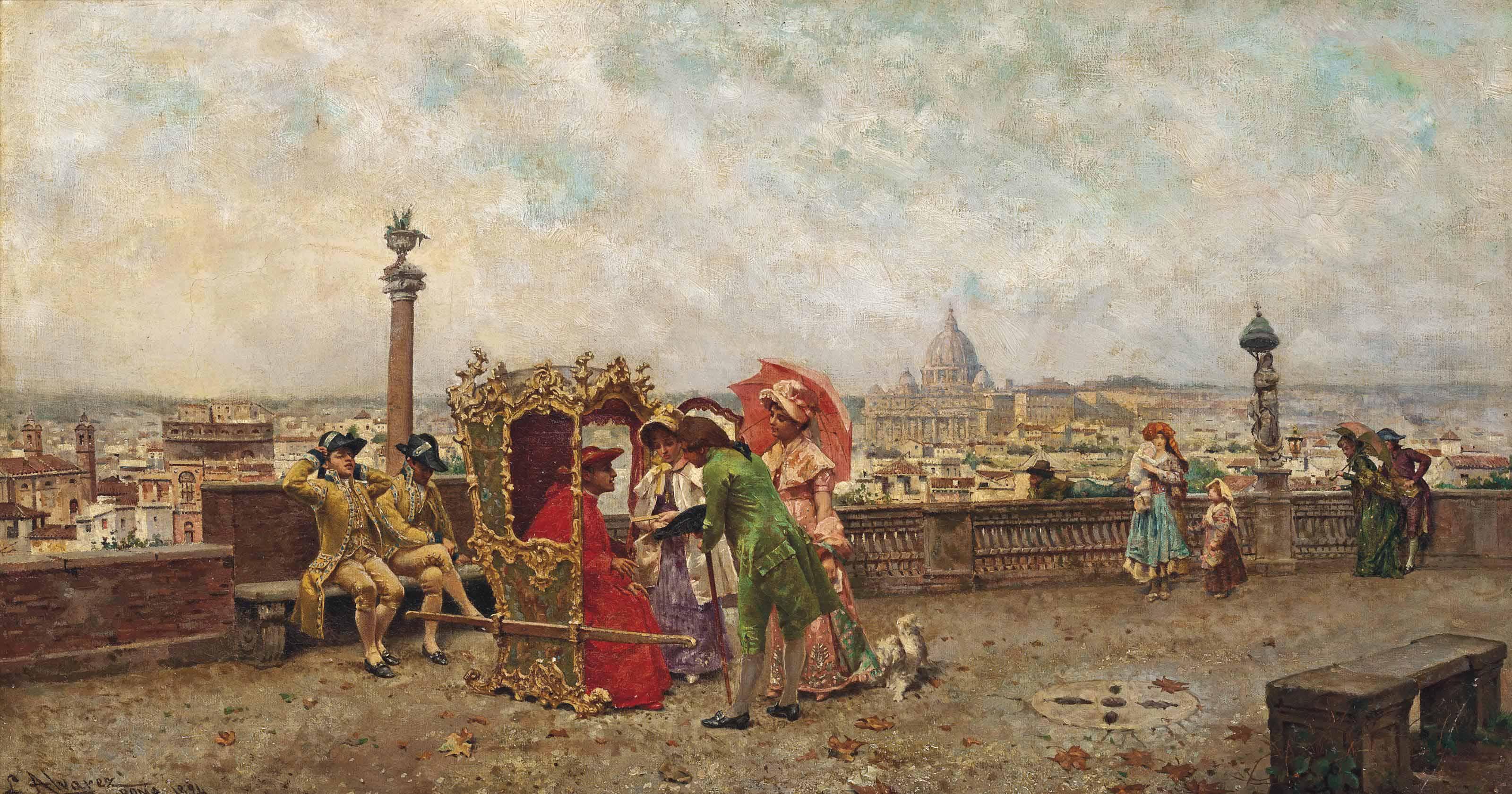 Cardinal's promenade at the Pincio, Rome
