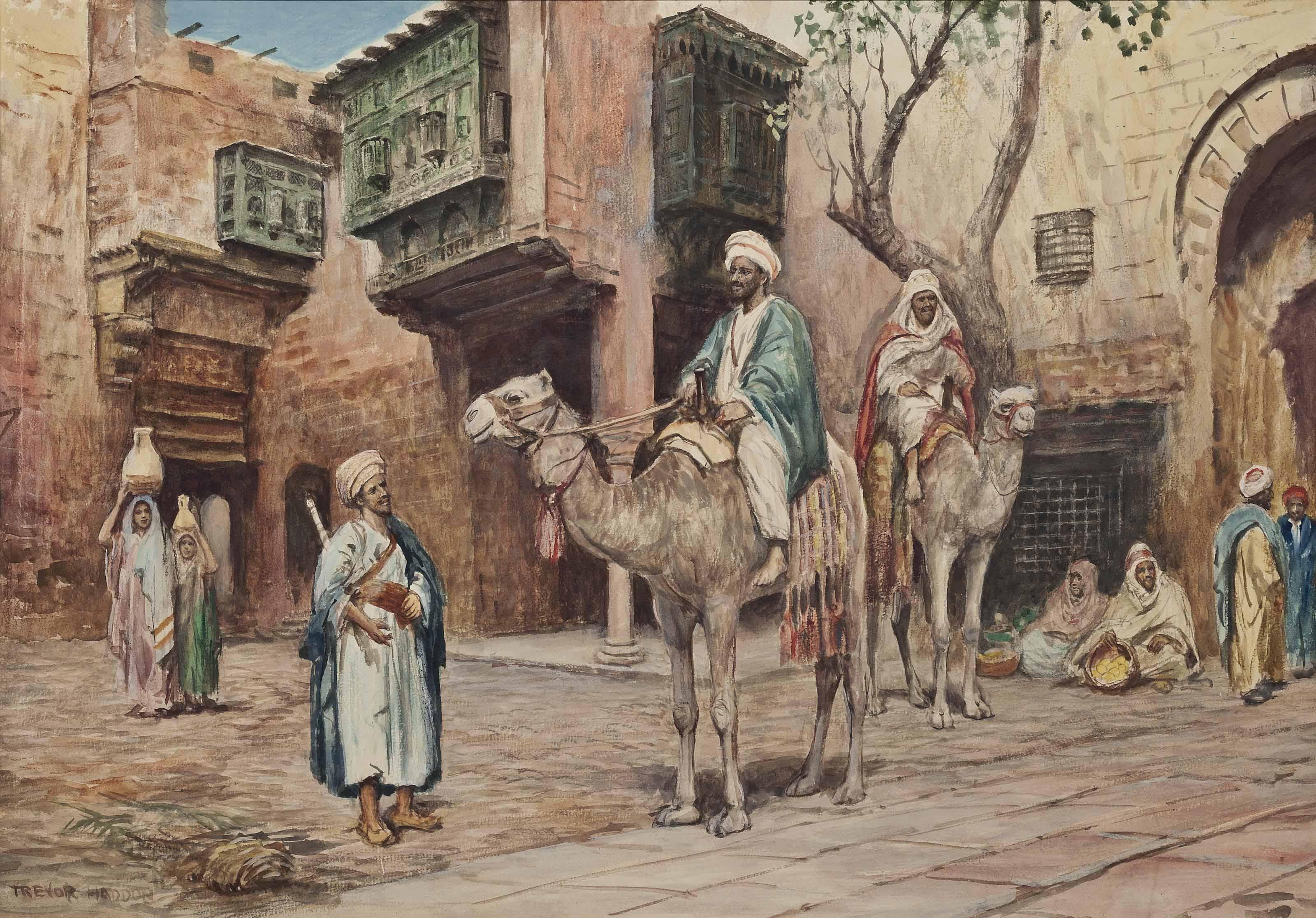 An Arab courtyard