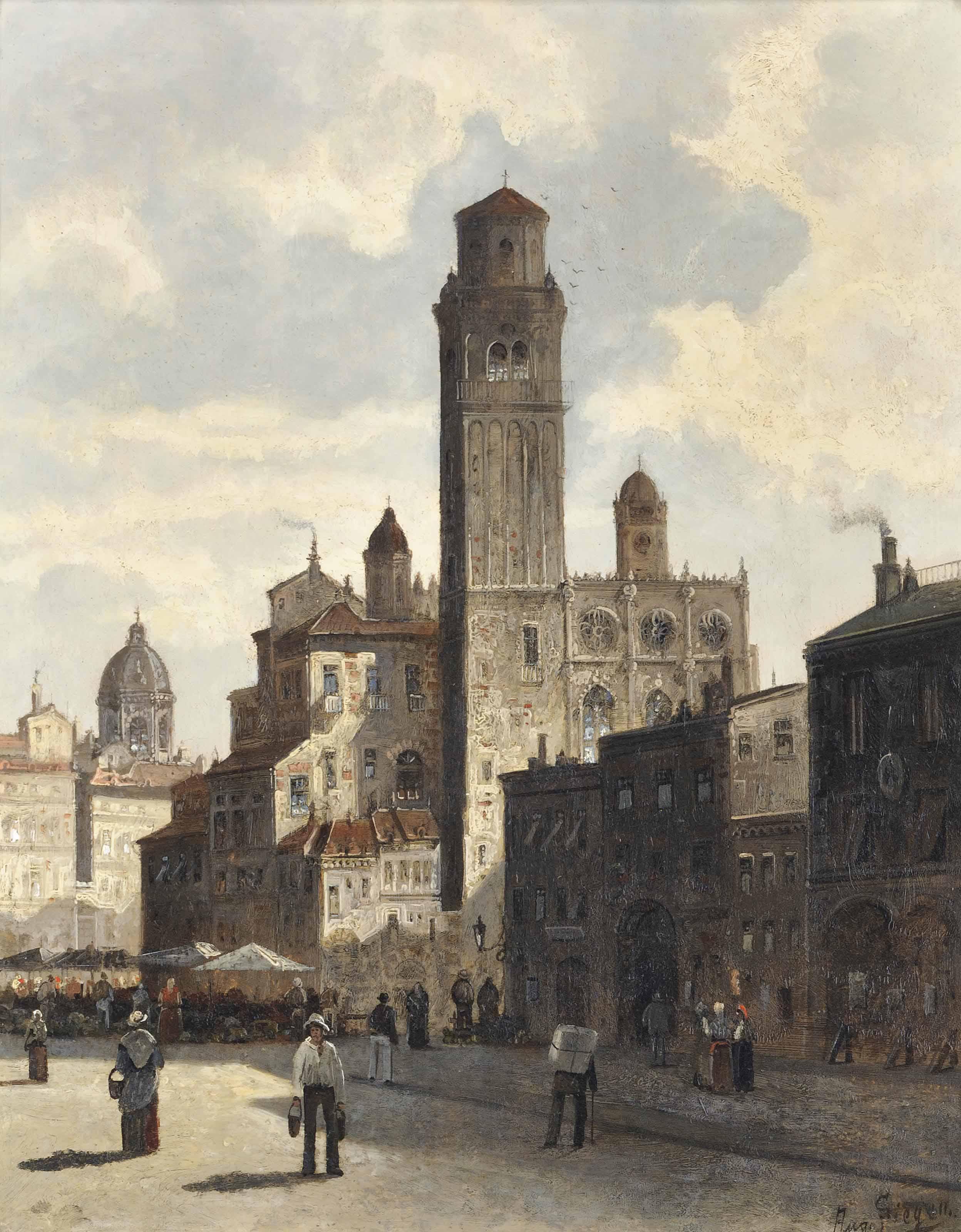 A capriccio view of Verona