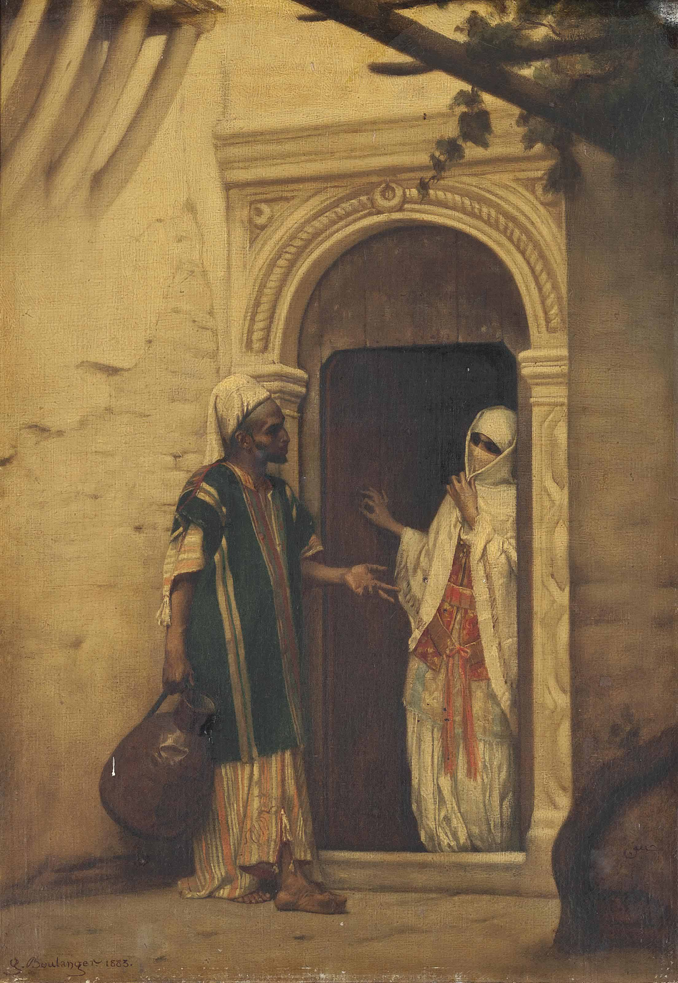 A water carrier at the harem entrance
