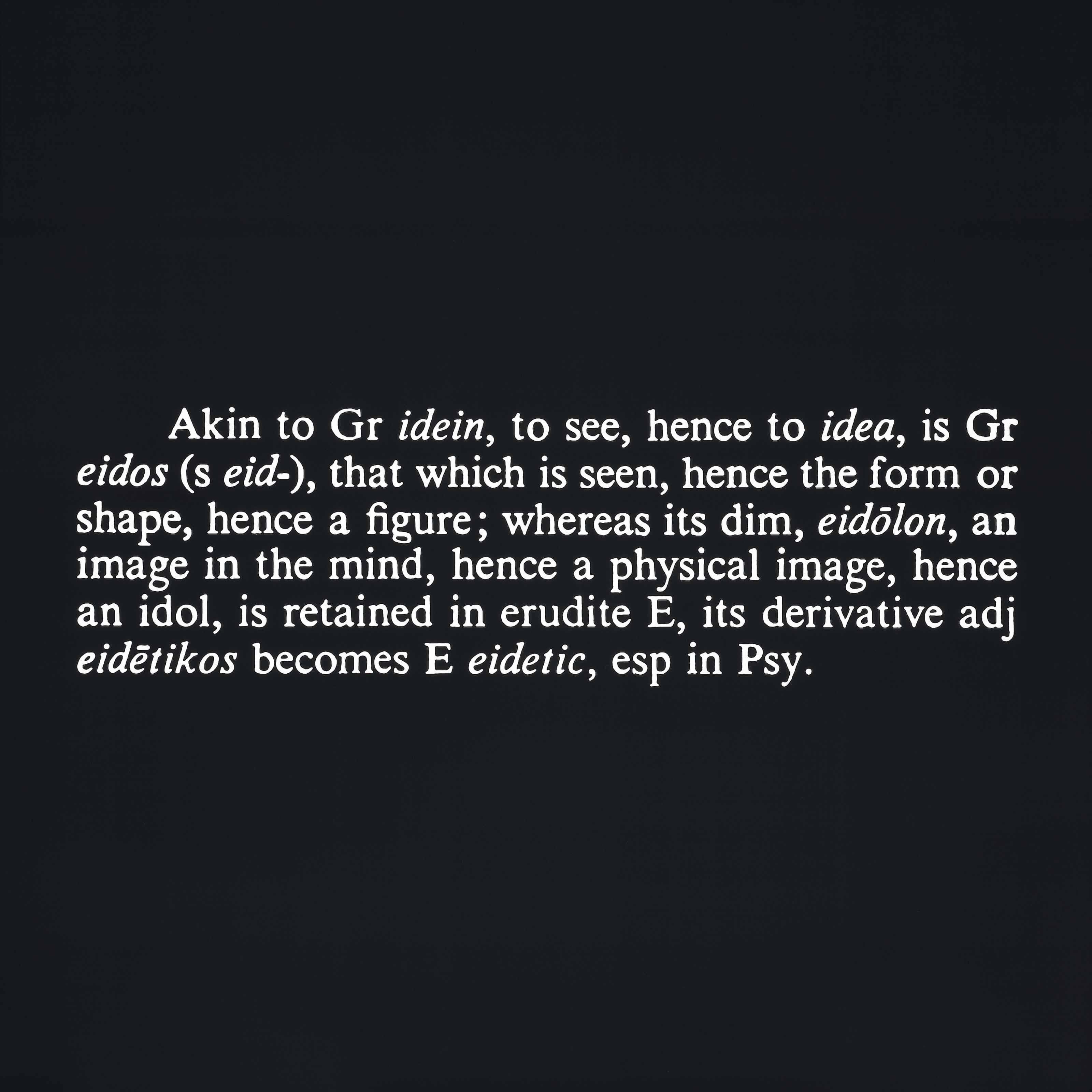 Titled (Art as Idea as Idea) [Akin]