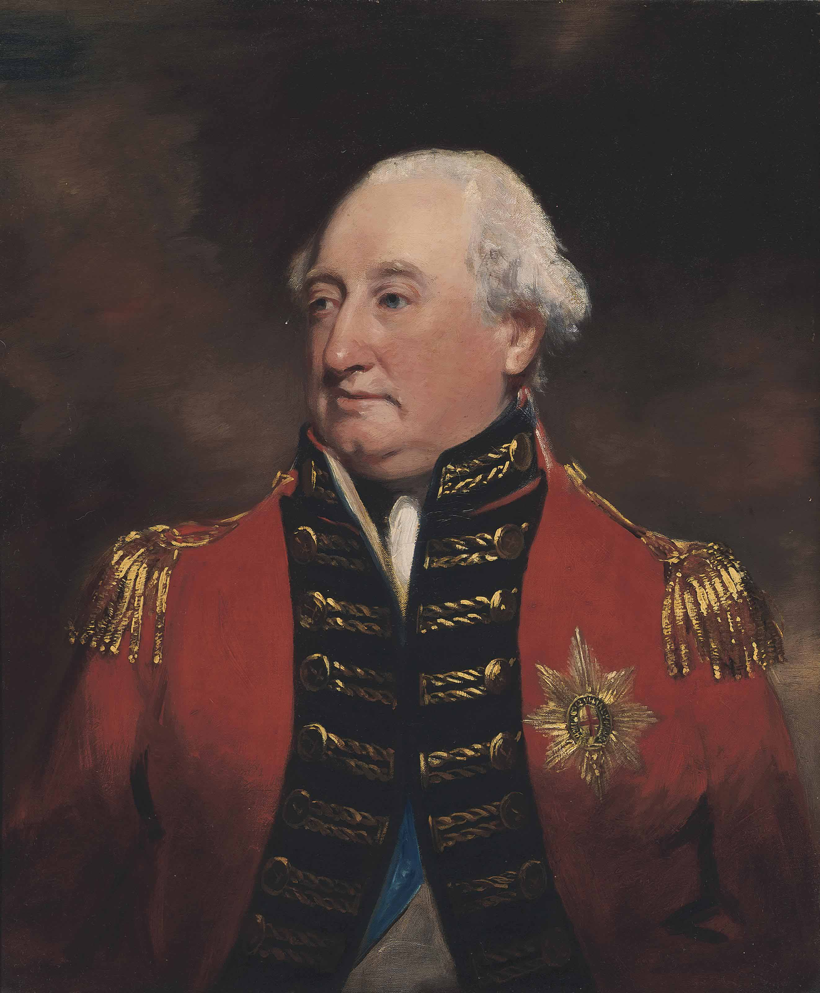 Portrait of Charles Cornwallis, 1st Marquess and 2nd Earl Cornwallis (1738-1805), in uniform with the Sash and Star of the Order of the Garter